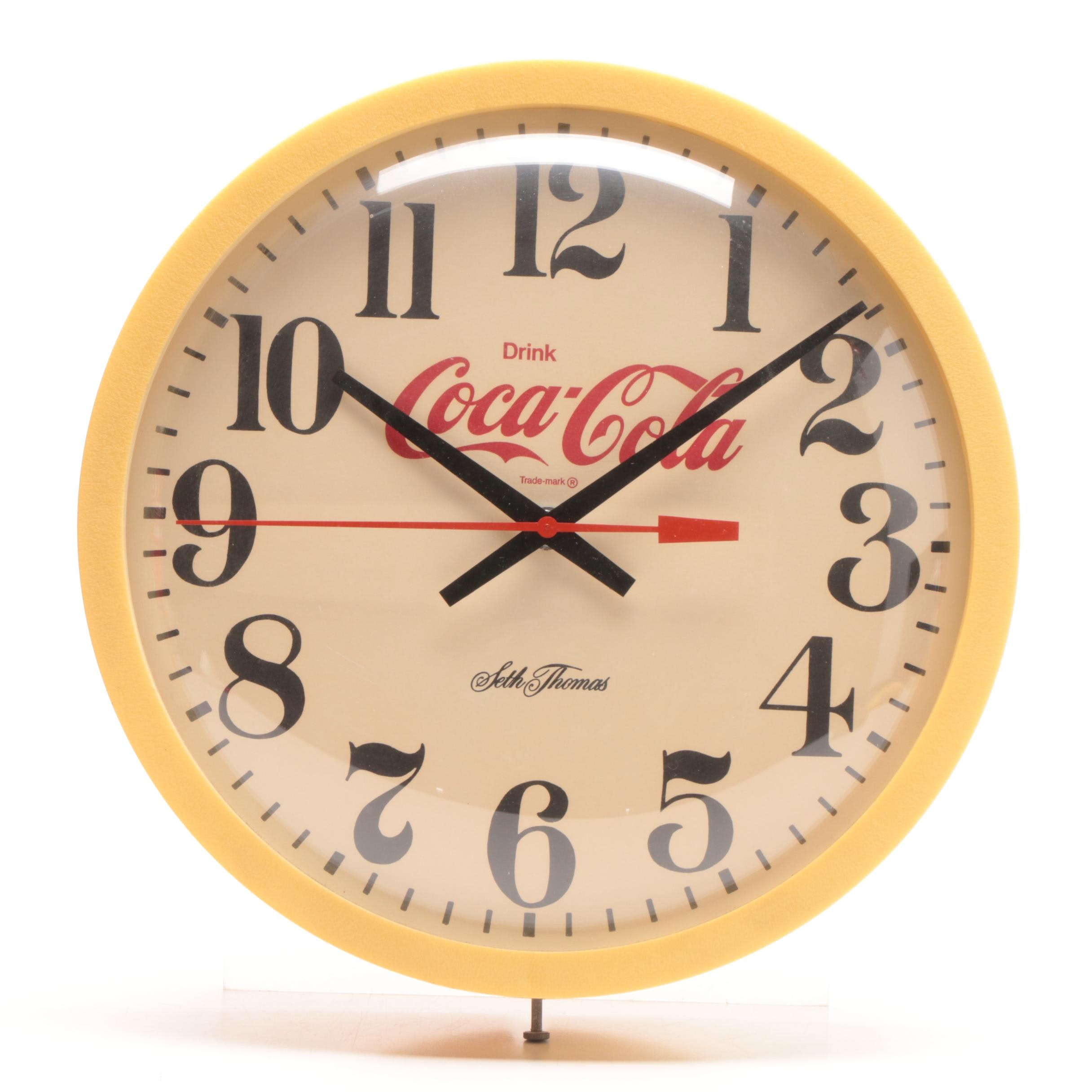 Seth Thomas Electronic Coca Cola Wall Clock