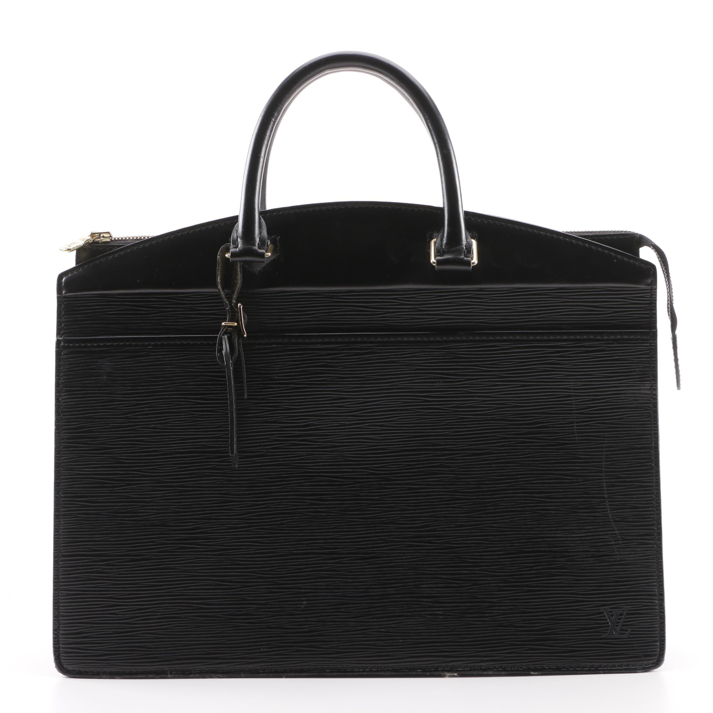 1996 Louis Vuitton Paris Black Epi Leather Riviera Tote