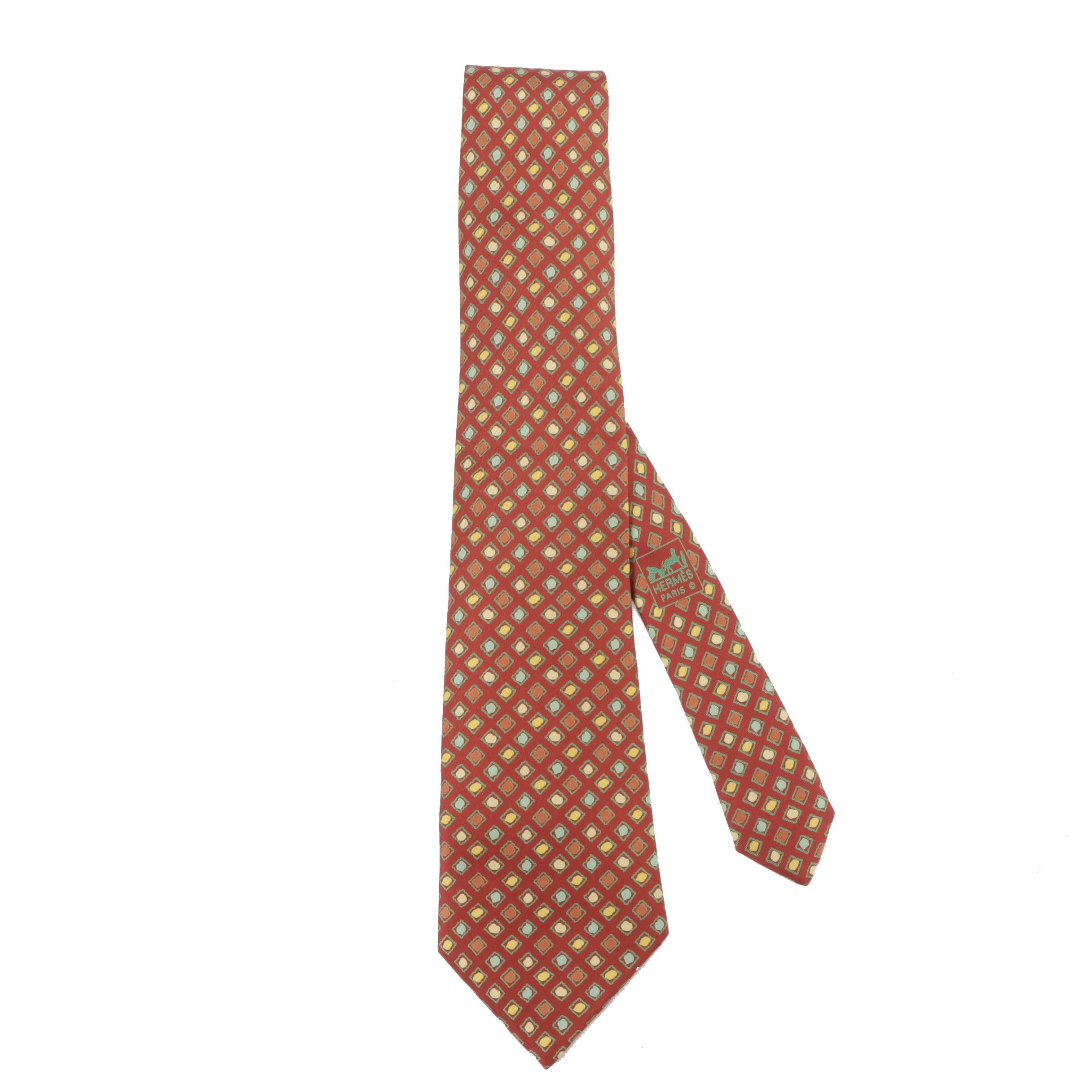 1980s Vintage Hermès of Paris 7989 EA Silk Necktie