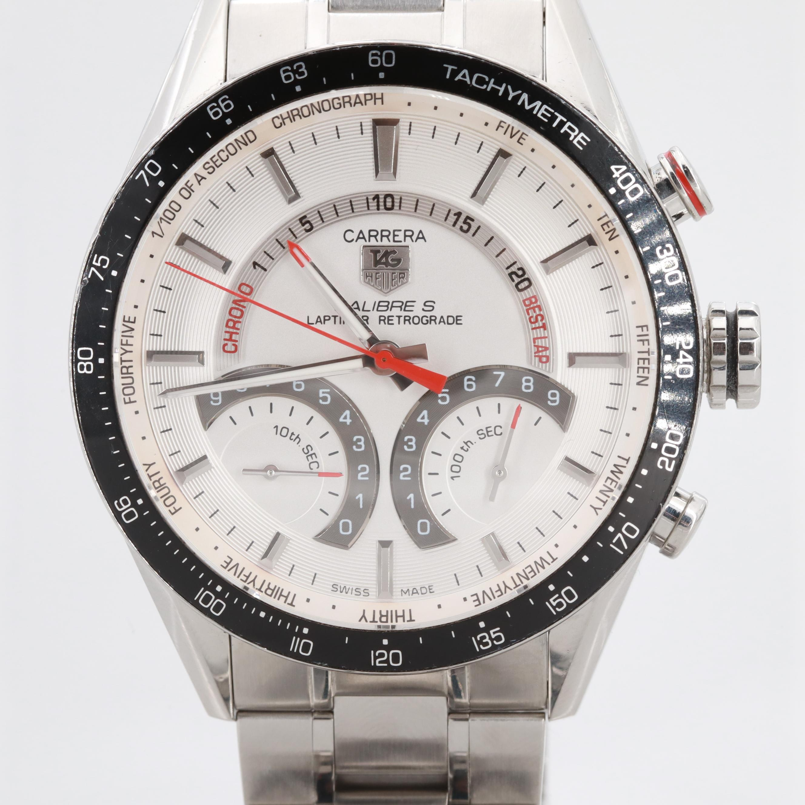 TAG Heuer Calibre S Laptimer Retrograde Wristwatch