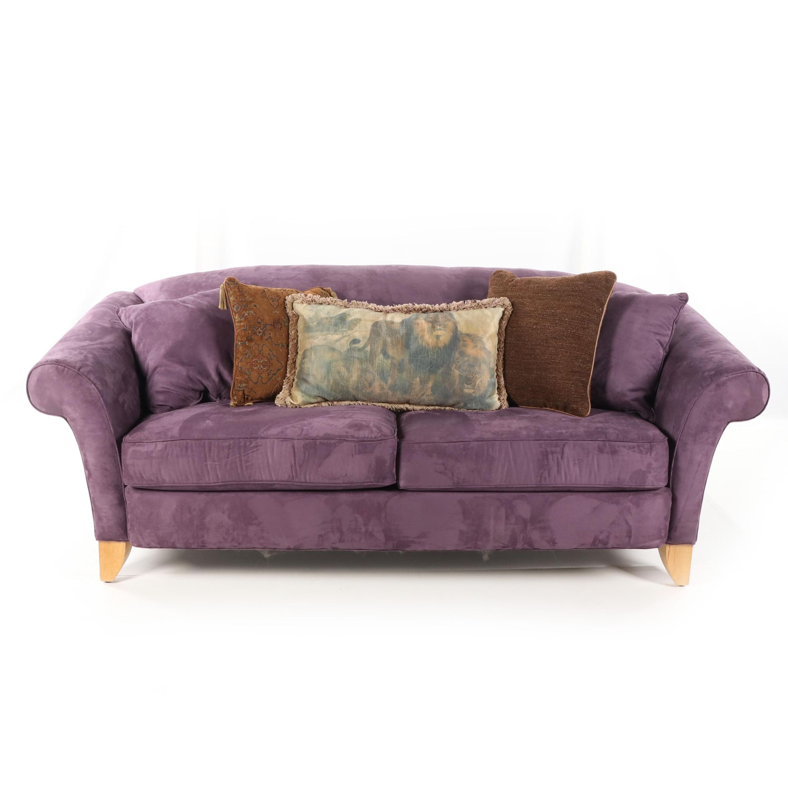 Contemporary Upholstered Sofa by Rowe