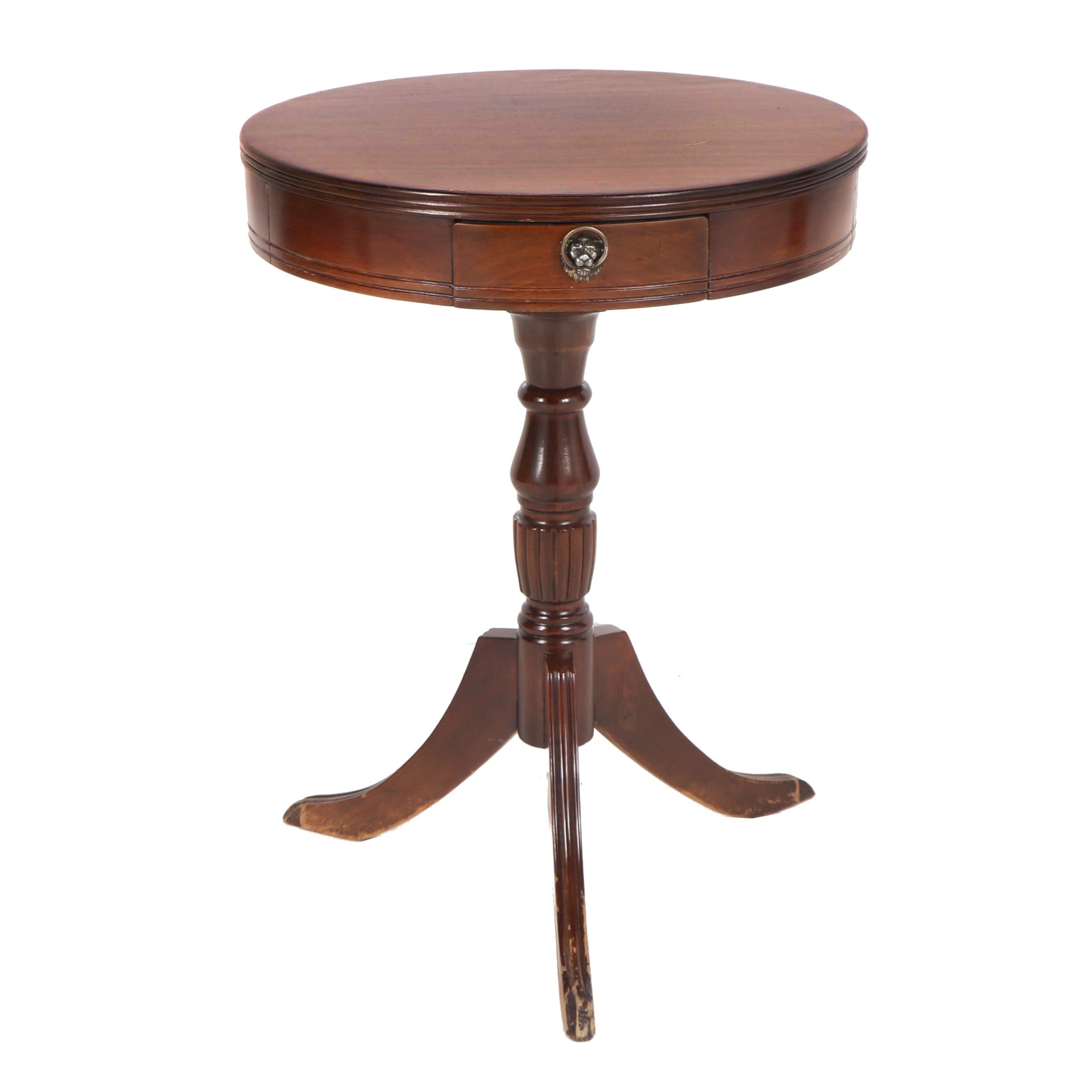 Federal Style Mahogany Side Table, Early 20th Century