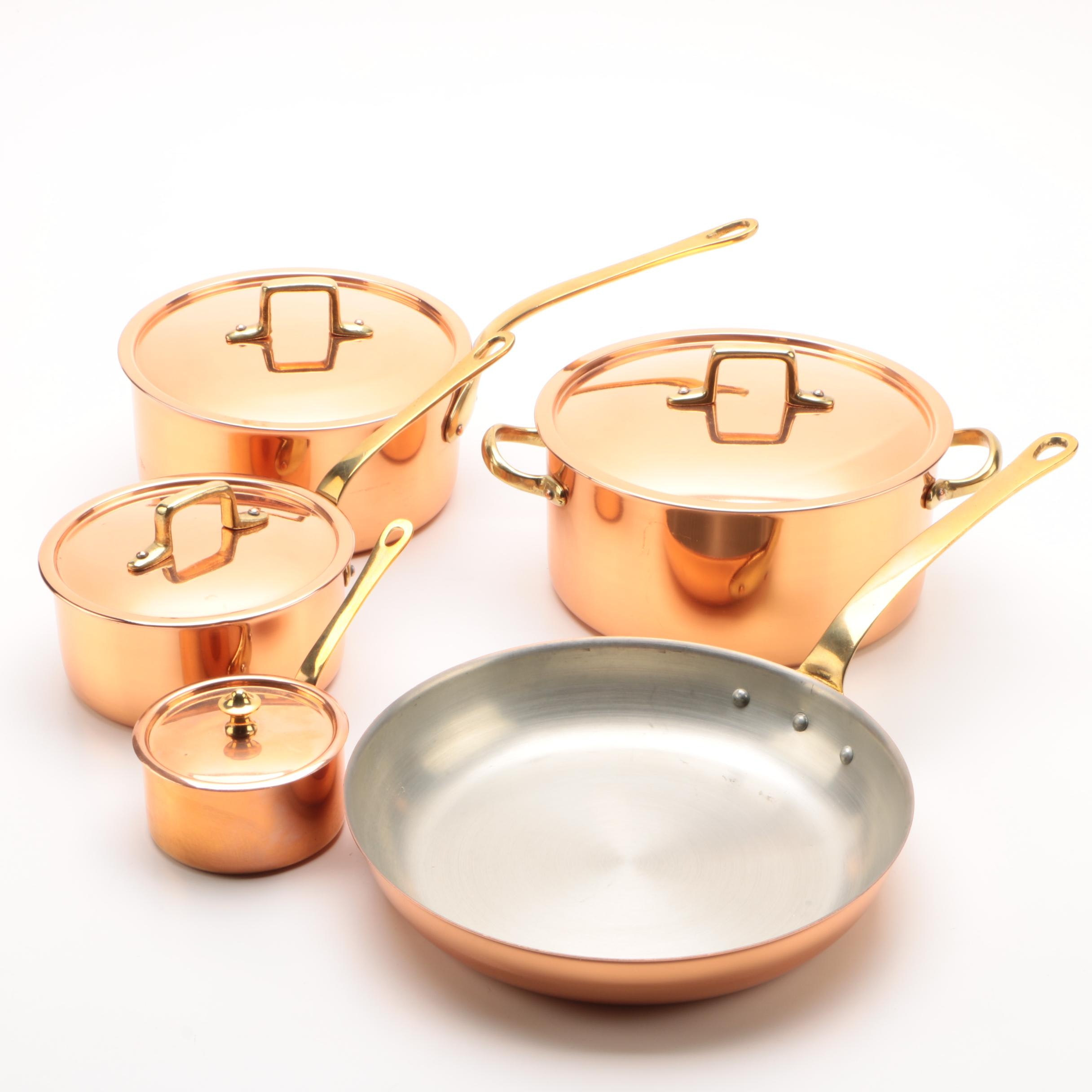 French and Portuguese Handmade Copper Pots and Pans