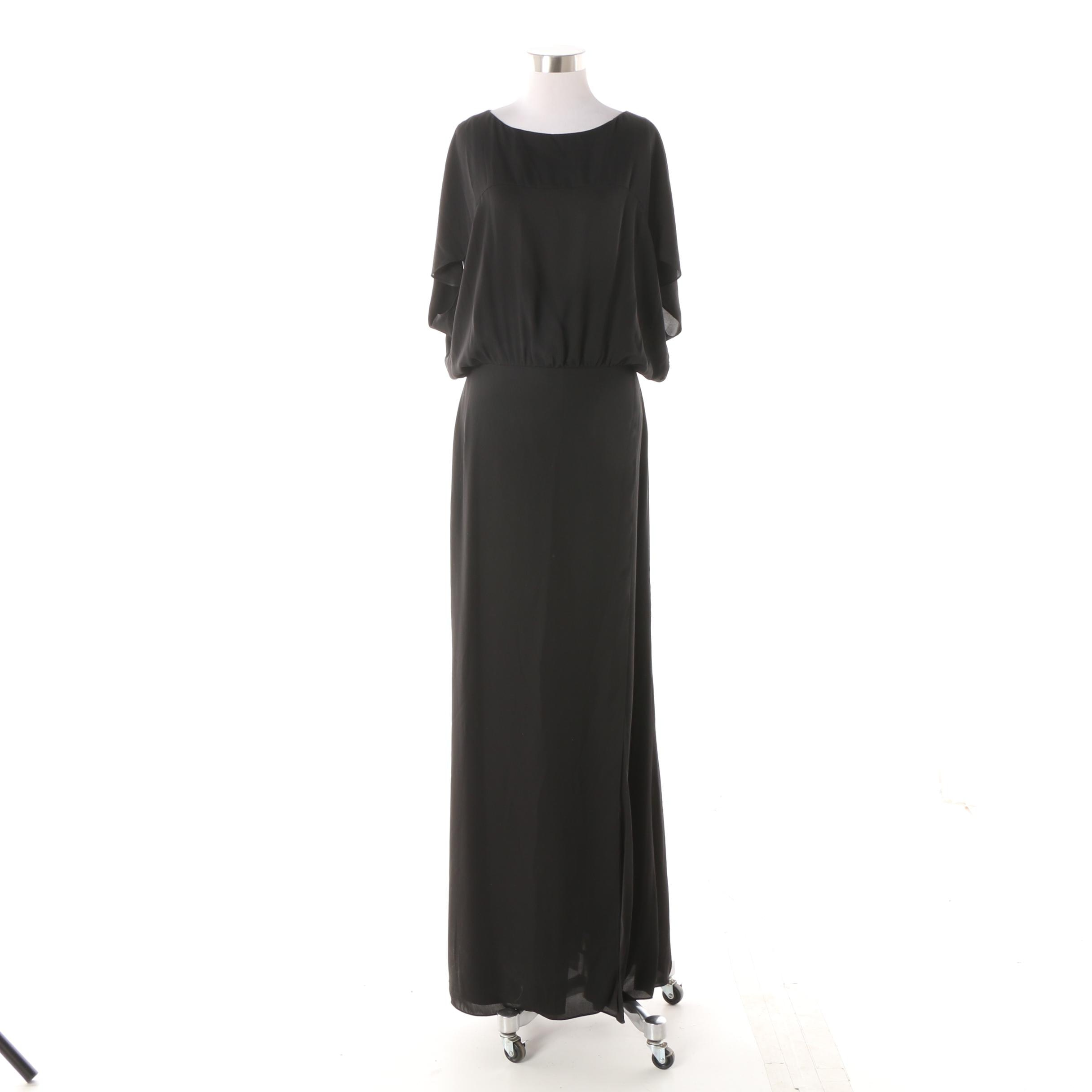 Halston Heritage Black Evening Dress with Original Tags