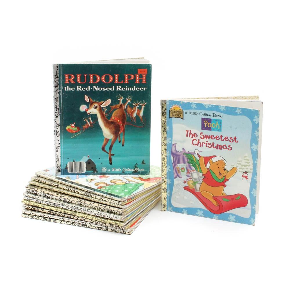 Vintage Little Golden Christmas Themed Books