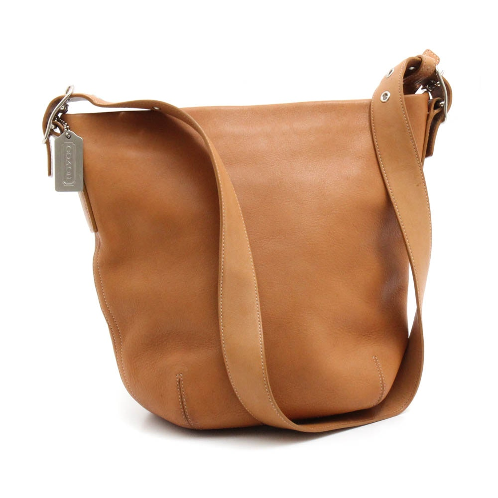 Coach Soho Tan Leather Bucket Shoulder Bag