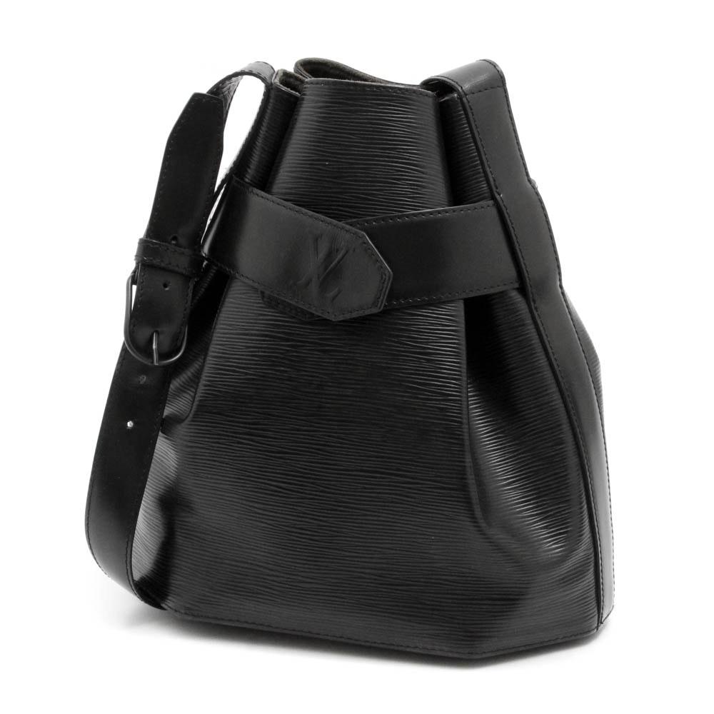 1993 Louis Vuitton Black Epi Leather Sac D'epaule PM