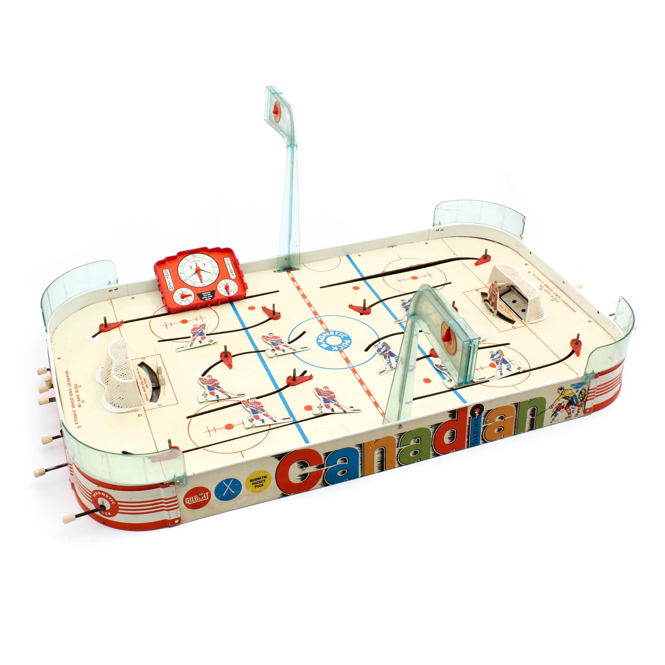 Vintage Gilbert Electric Hockey Game