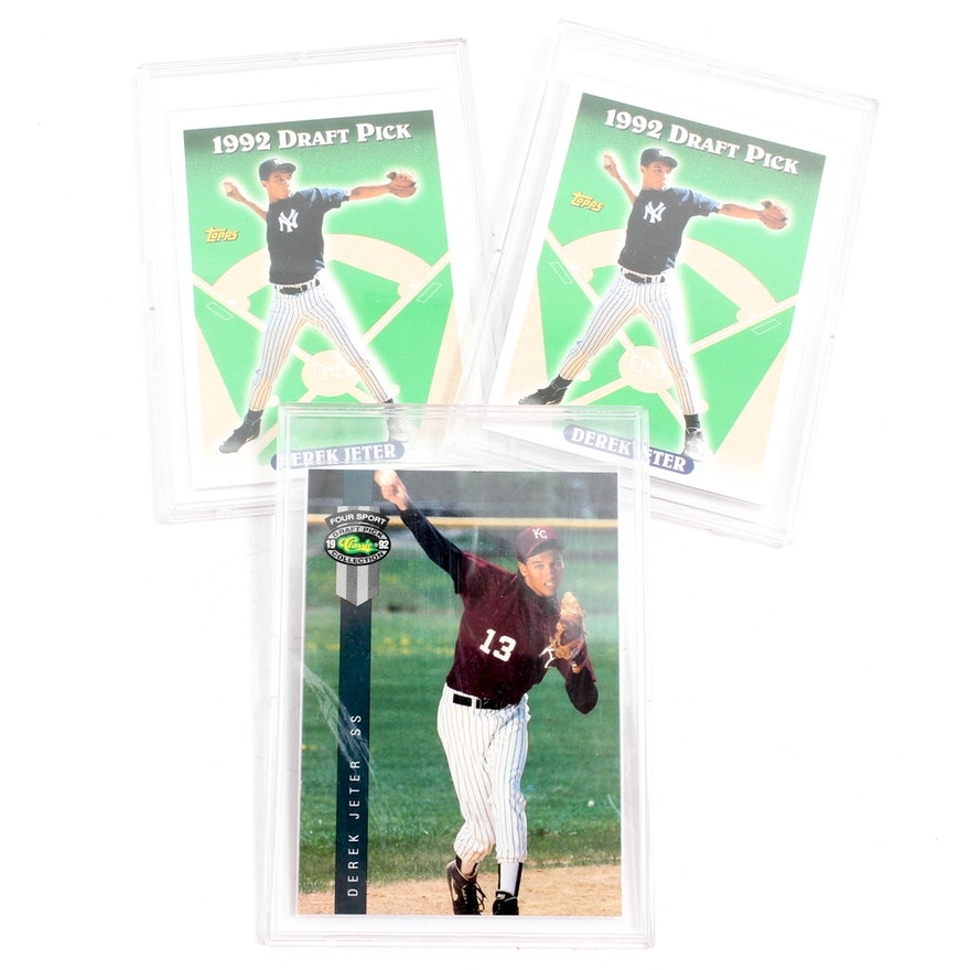 1993 Derek Jeter Rookie Topps And Four Sport Cards