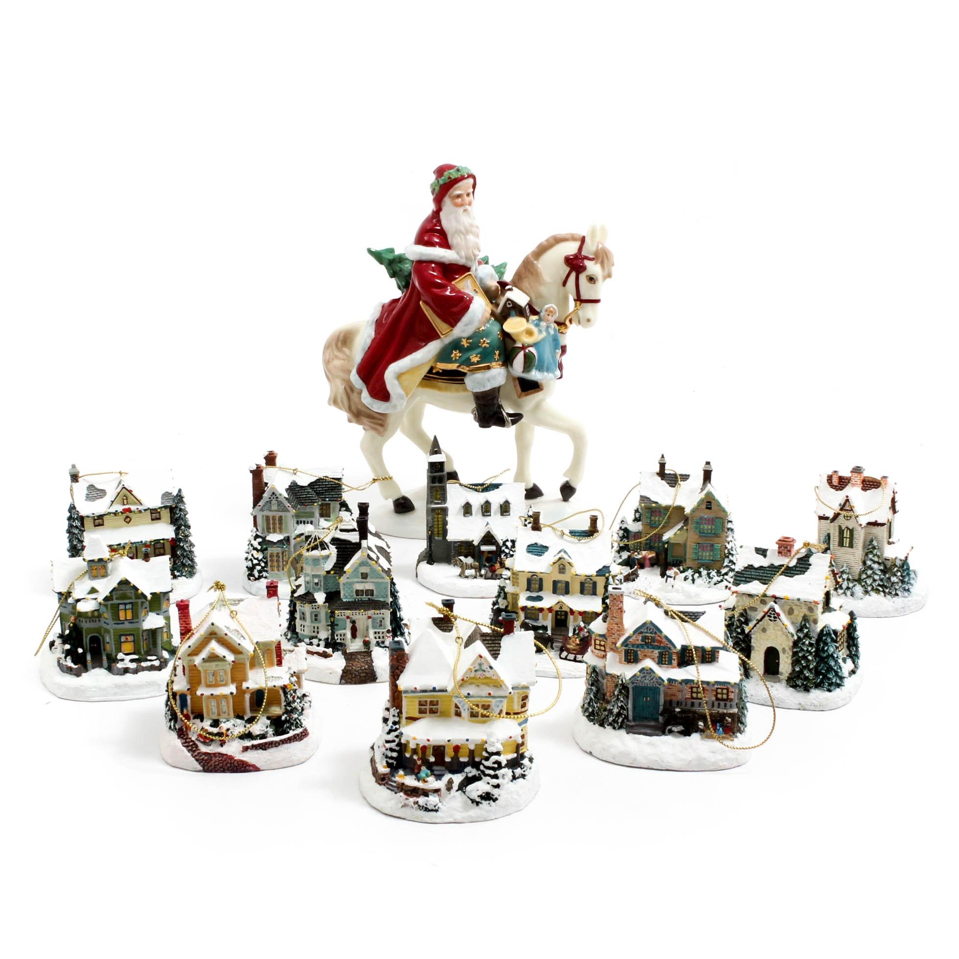 "Thomas Kinkade ""Winter Memories"" Christmas Ornaments"