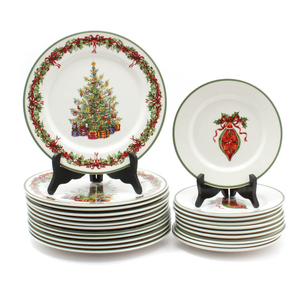 "Christopher Radko ""Holiday Celebrations"" Dinner and Luncheon Plates"