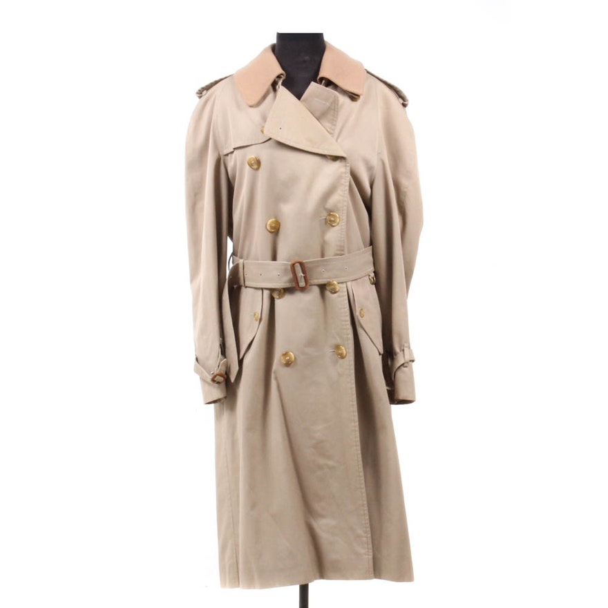 b1c3176eae58 Men s Burberrys Double-Breasted Trench Coat with Wool Liner   EBTH