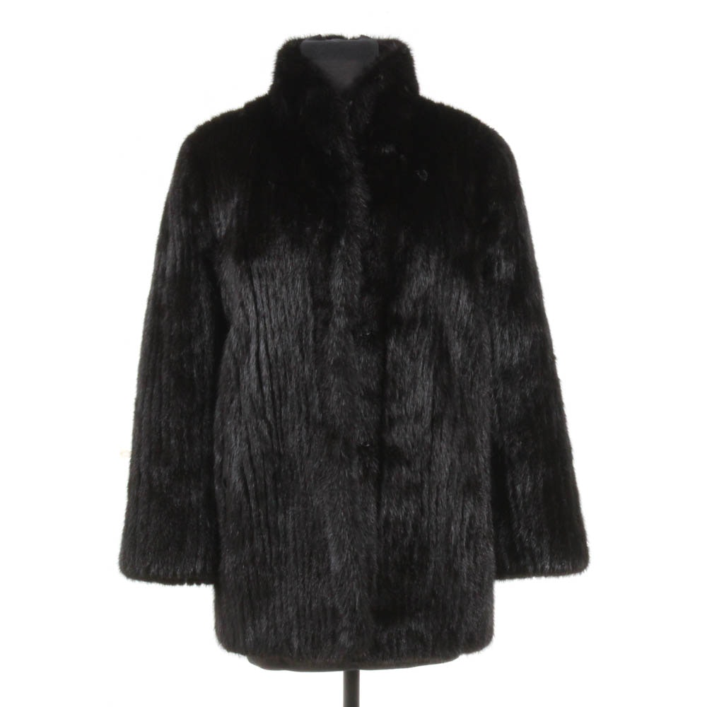Women's Vintage Black Mink Fur Coat