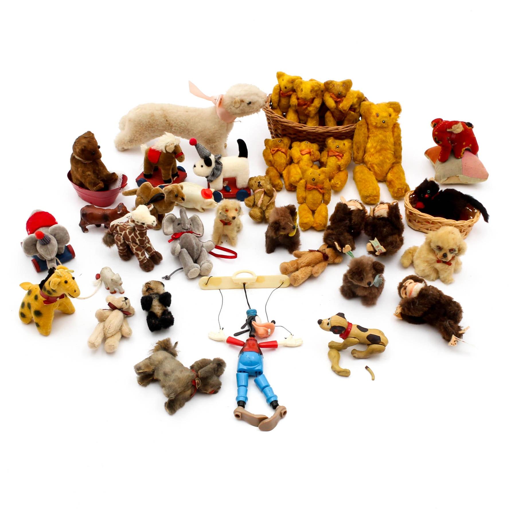 Vintage Miniature Plush Toys