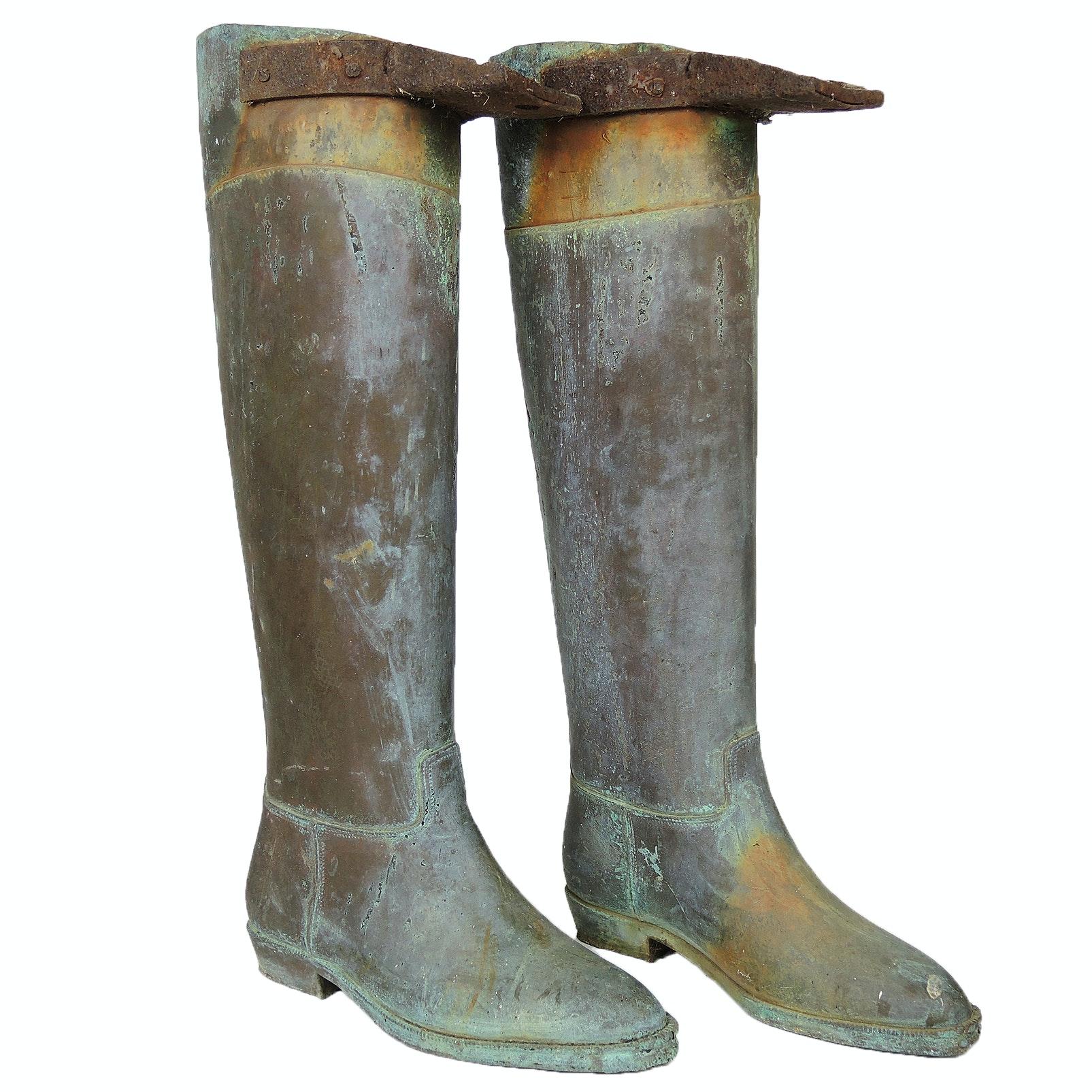Copper Boot Molds for Andrew Geller