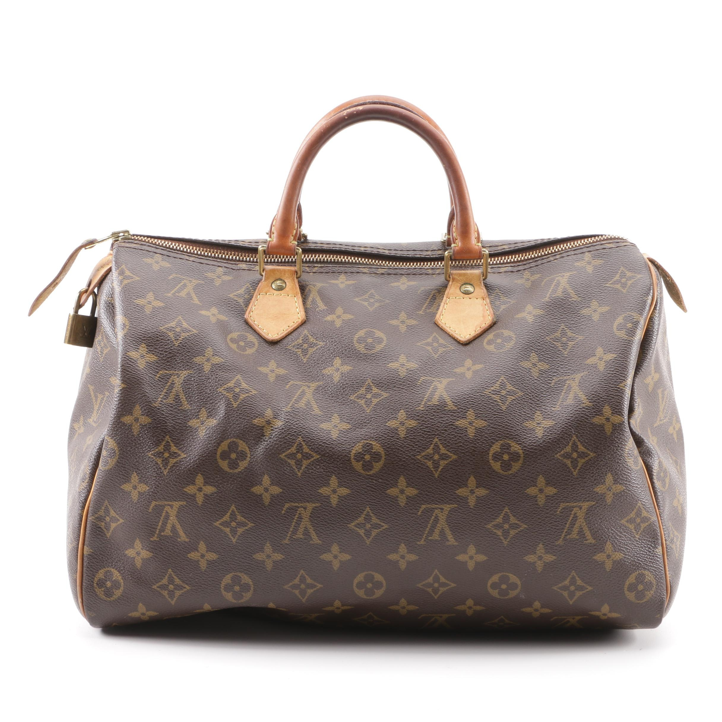 2008 Louis Vuitton Paris Monogram Canvas Speedy Bandouliere 35 Bag