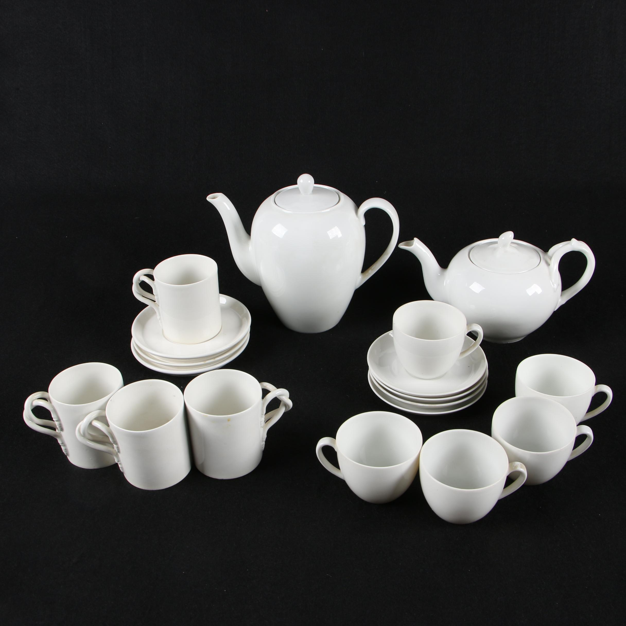R. Capodimonte and Schonwald Porcelain Tea Sets