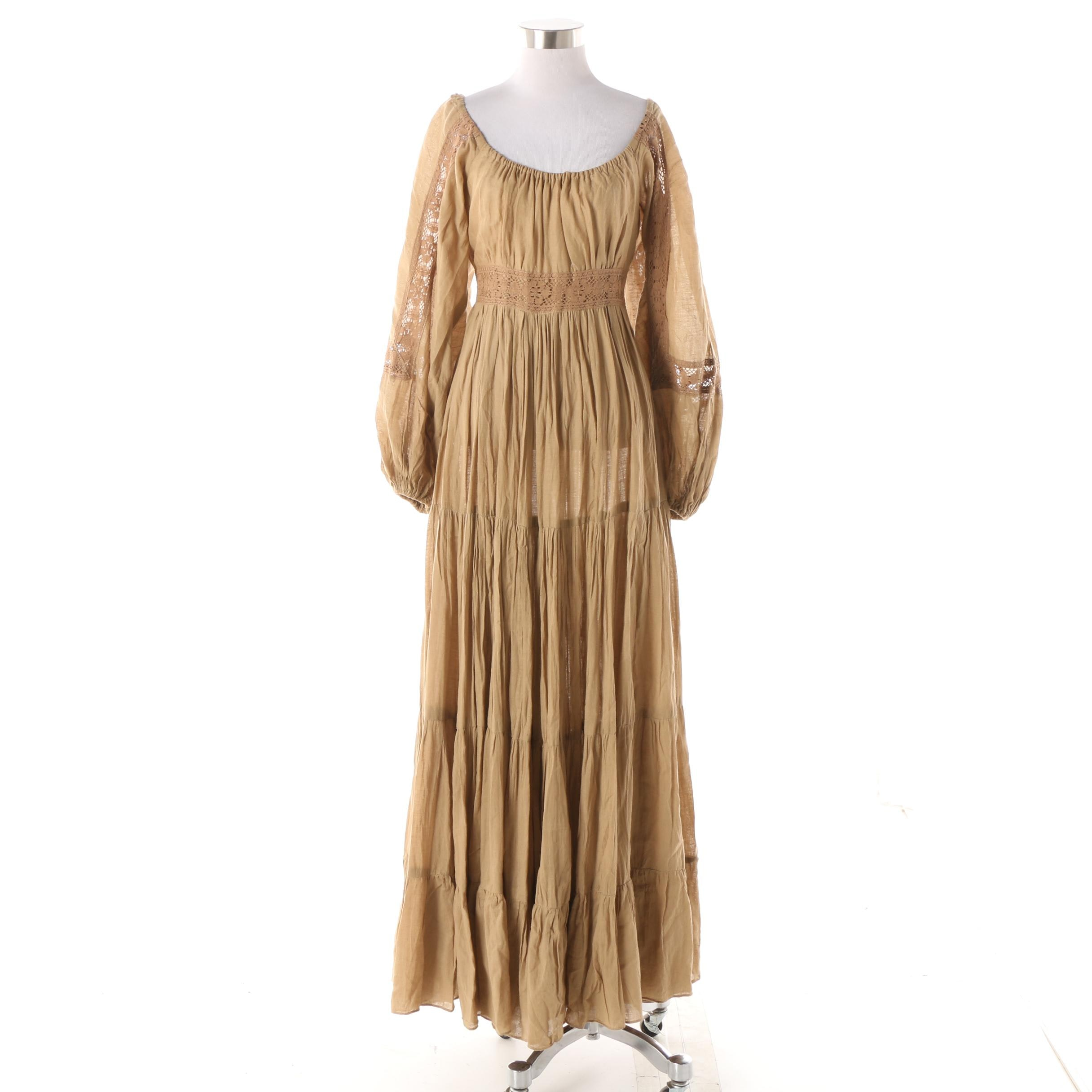 Women's 1980s Vintage Gunne Sax by Jessica McClintock Maxi Dress