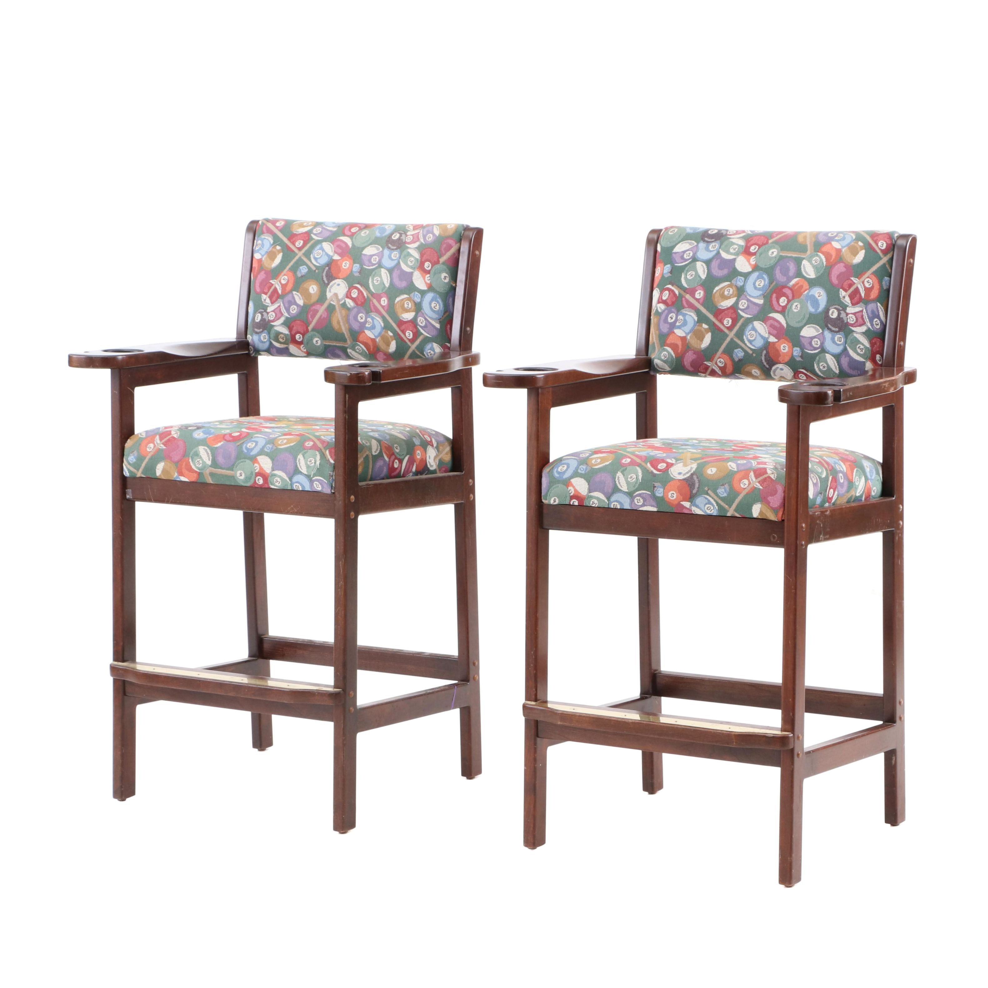 Pair of High Bar Chairs From the Reds Clubhouse