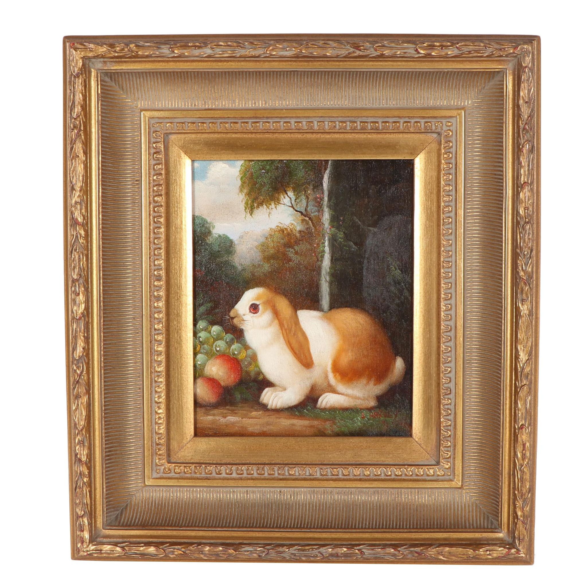 Harvey Oil Painting of a Rabbit