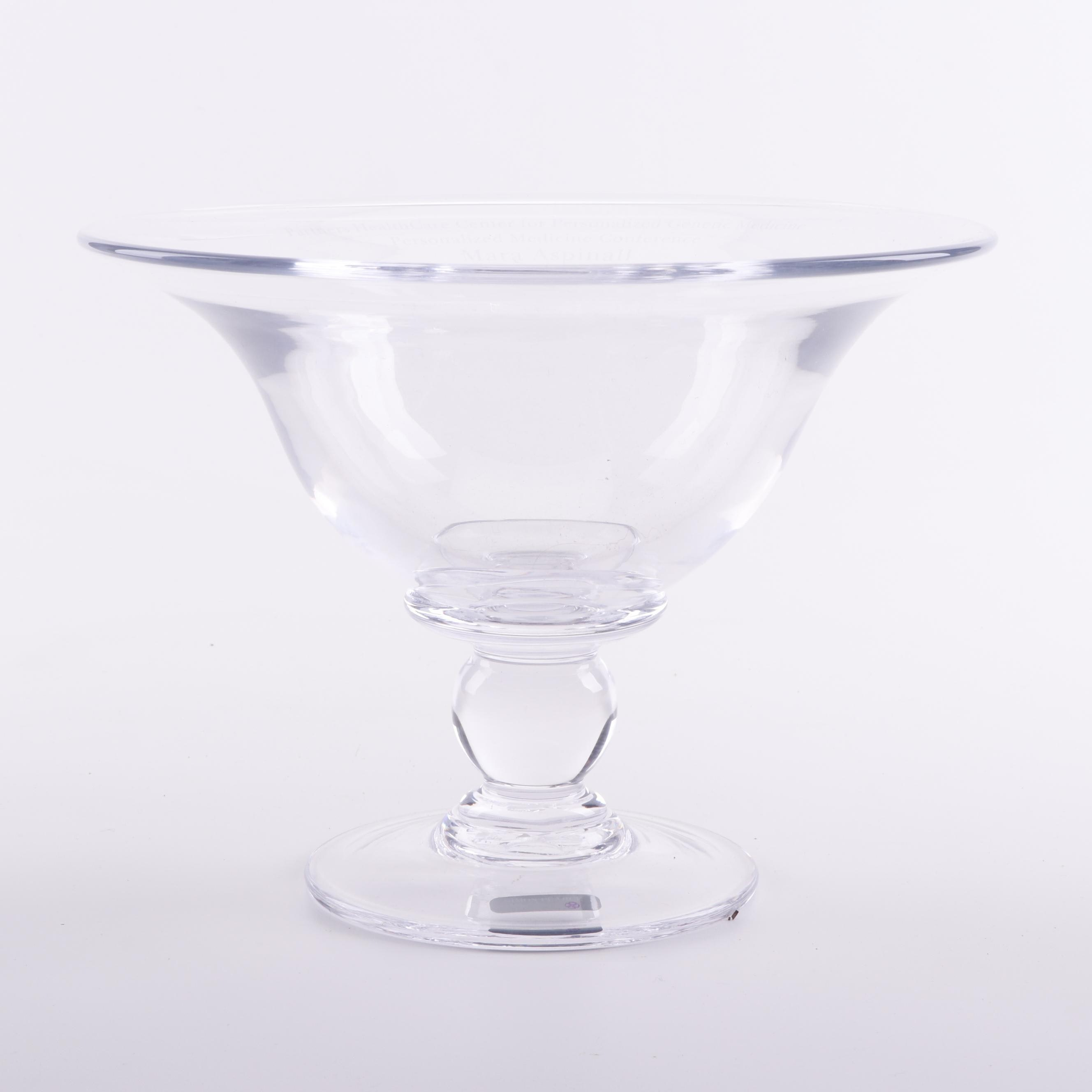 "Simon Pearce ""Hartland"" Handcrafted Footed Glass Bowl"