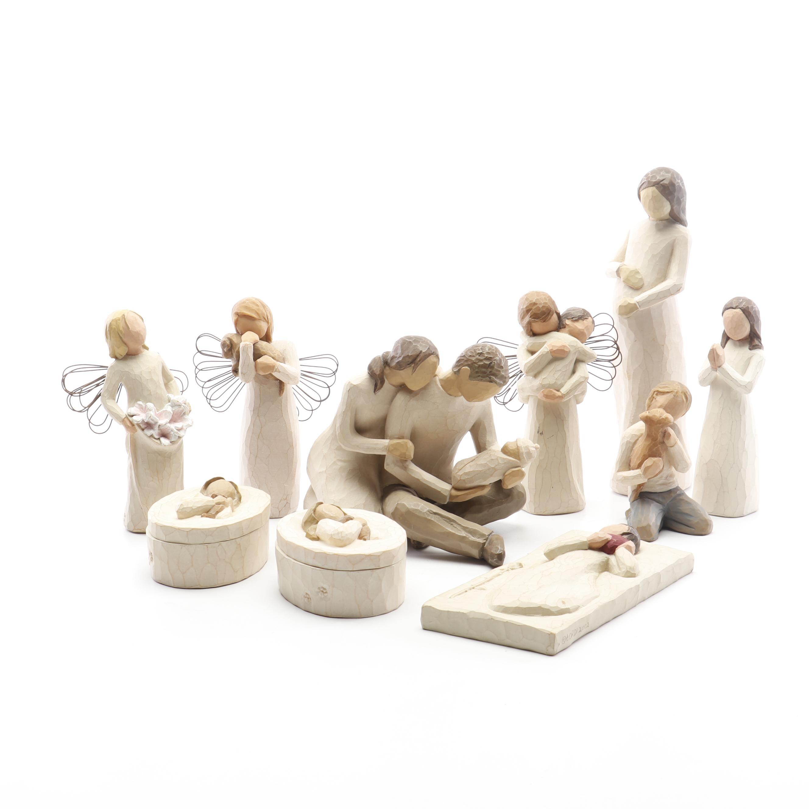 "Susan Lordi ""Willow Tree"" Resin Figurines, 2000s"