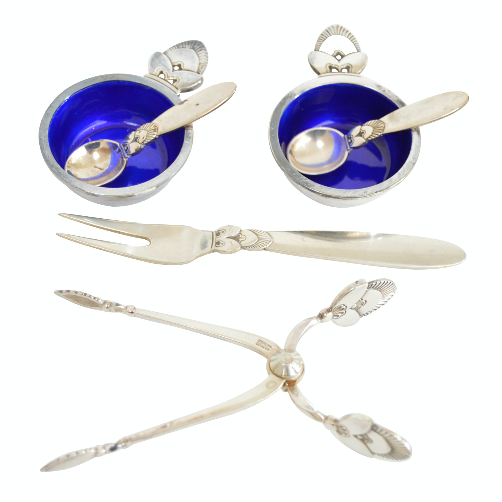 "Georg Jensen ""Cactus"" Sterling Silver Flatware and Utensils"