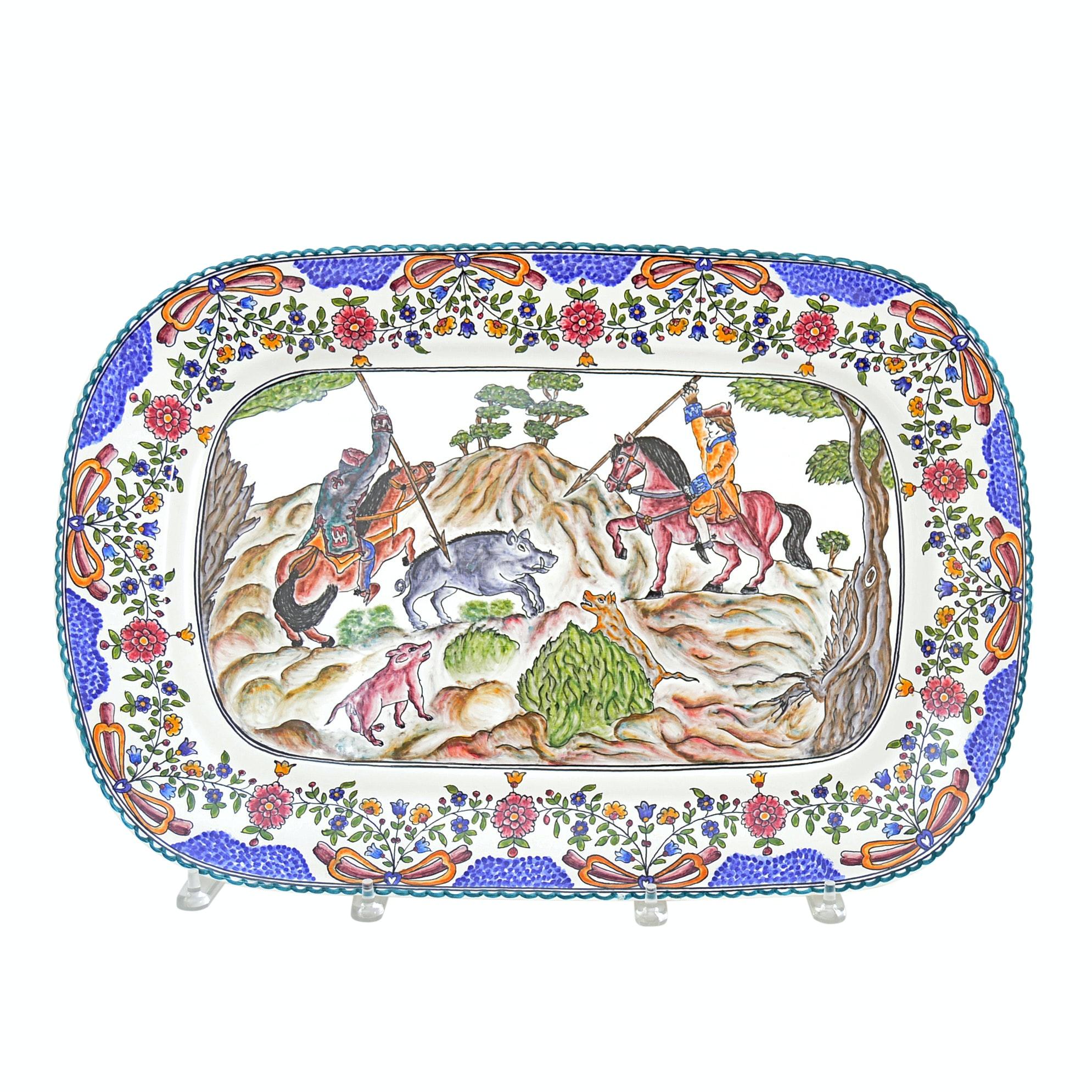Filcer Portuguese Majolica Pottery Platter