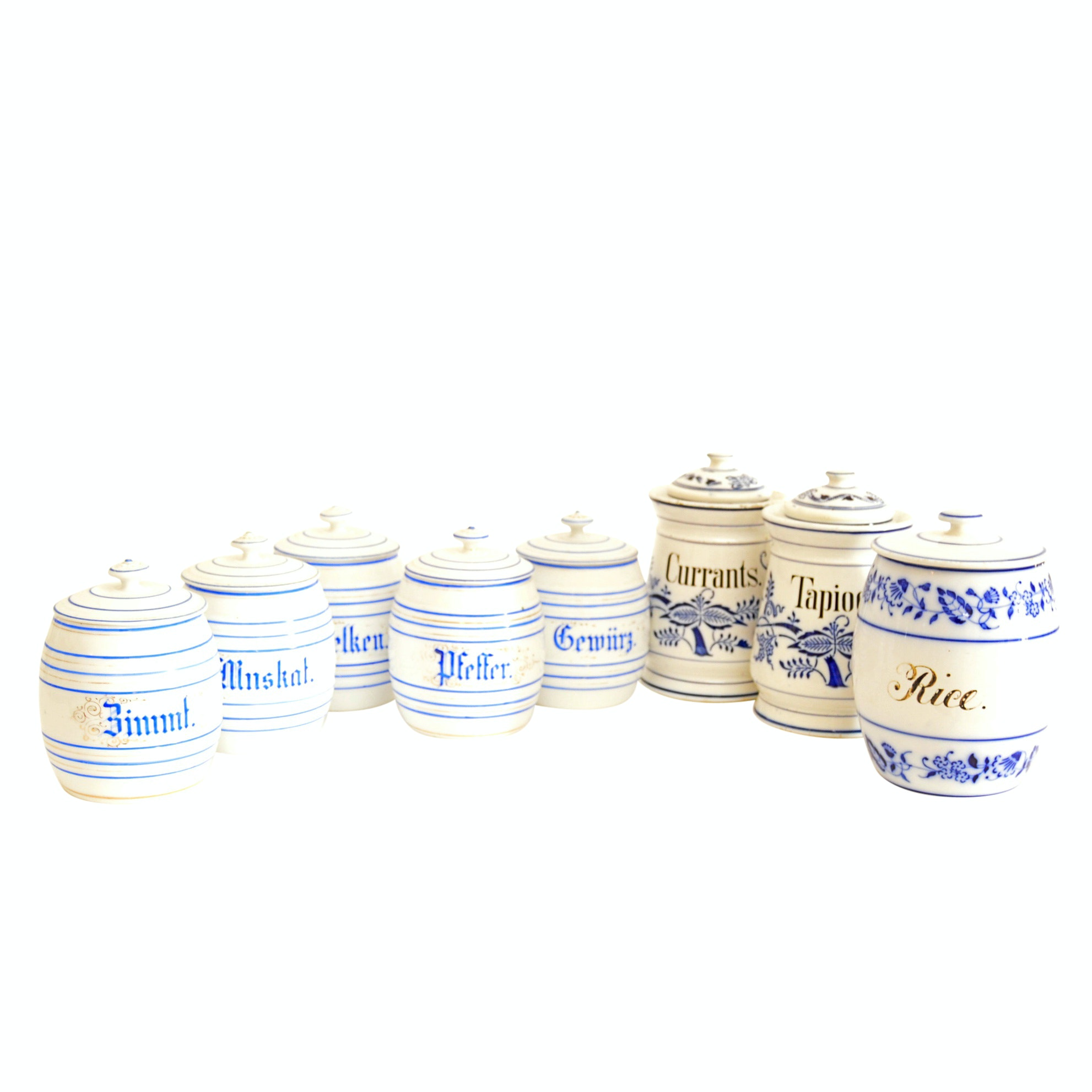 Porcelain Canisters with Vintage German Set