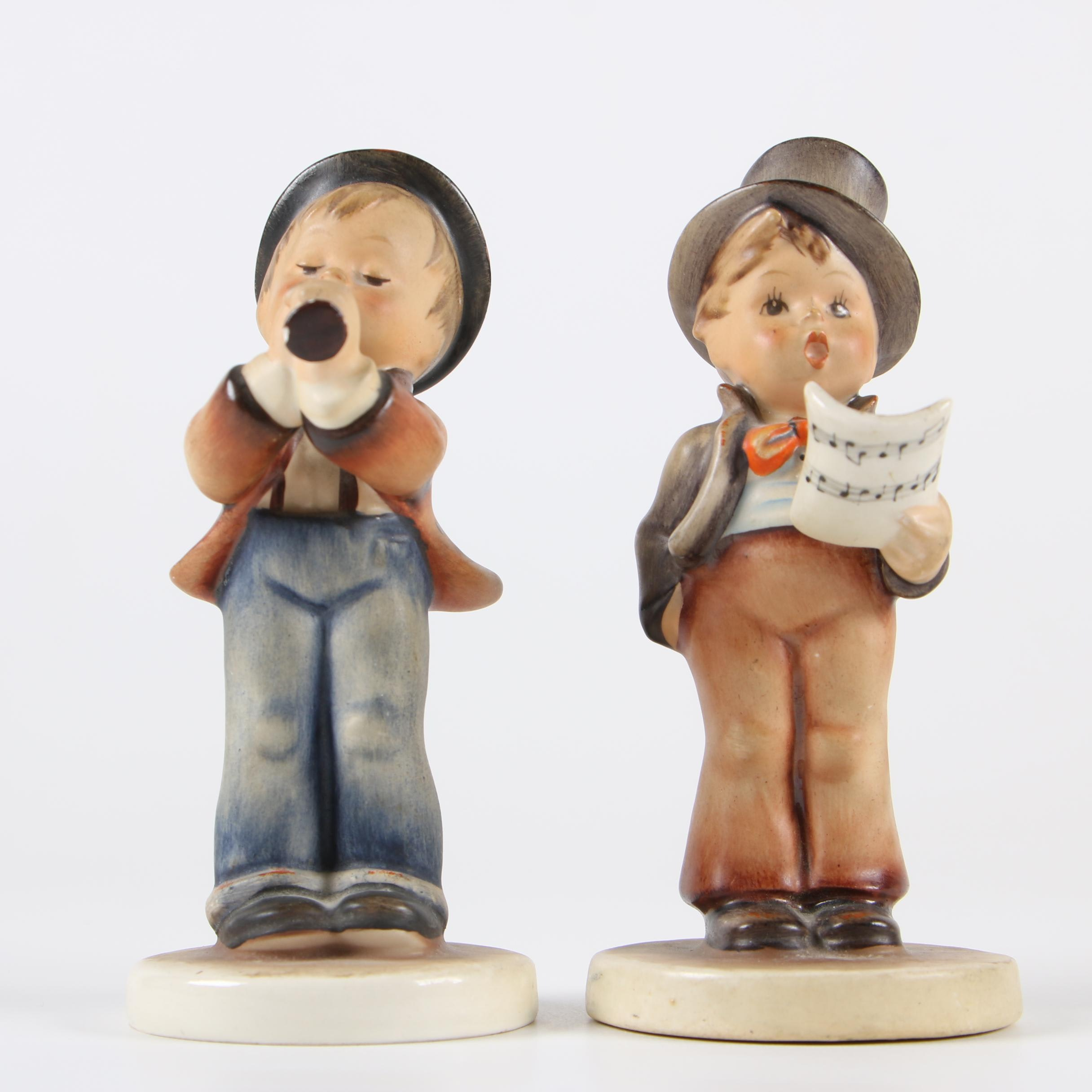 "Goebel Hummel Porcelain ""Street Singer"" and ""Serenade"" Figurines"