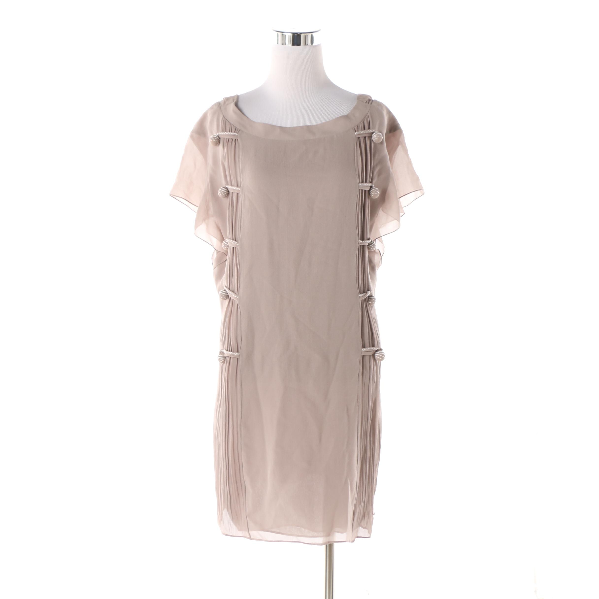 Nina Ricci Greige Crepe Tunic Dress