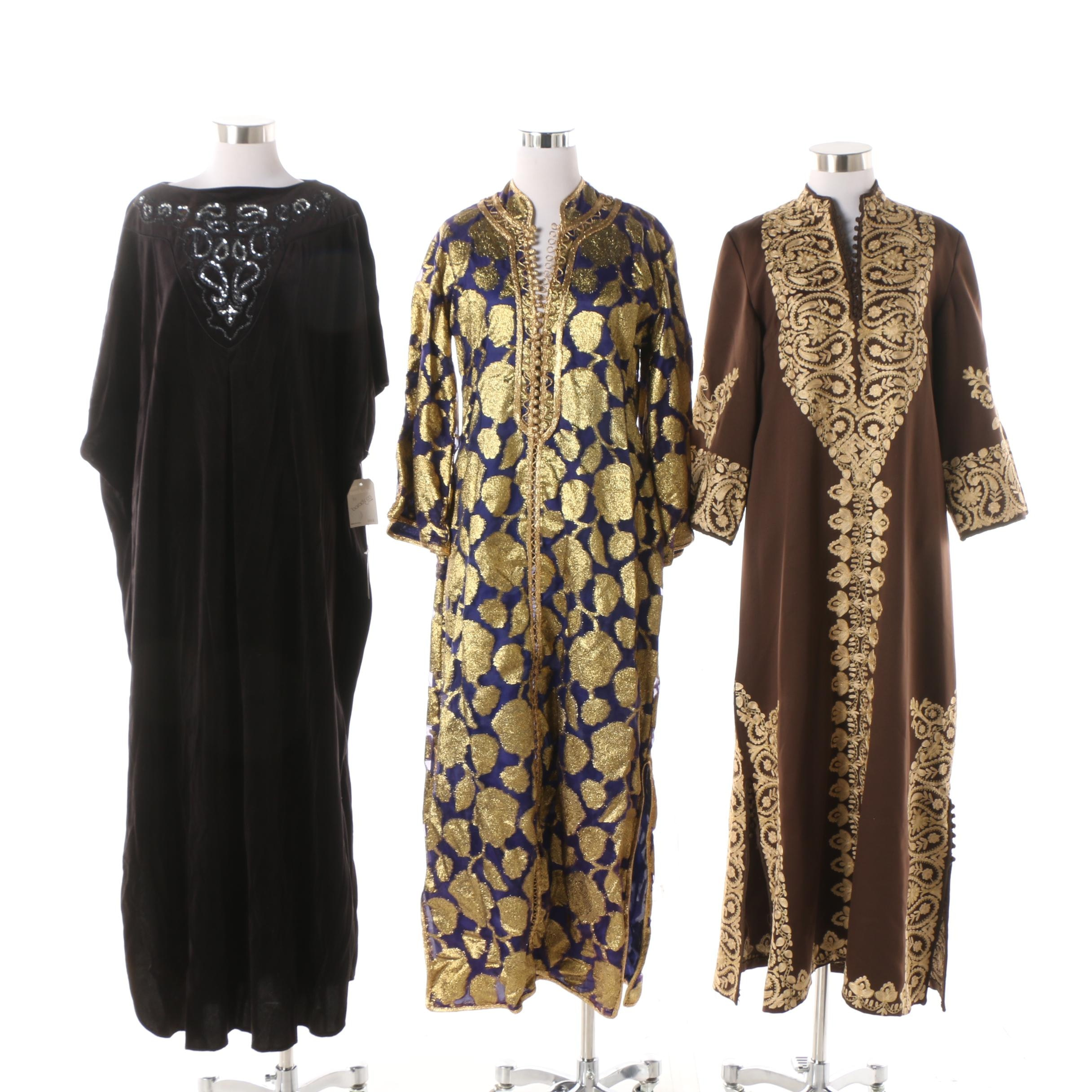 Women's Vintage Embroidered and Embellished Kaftans including Tom Bezduda