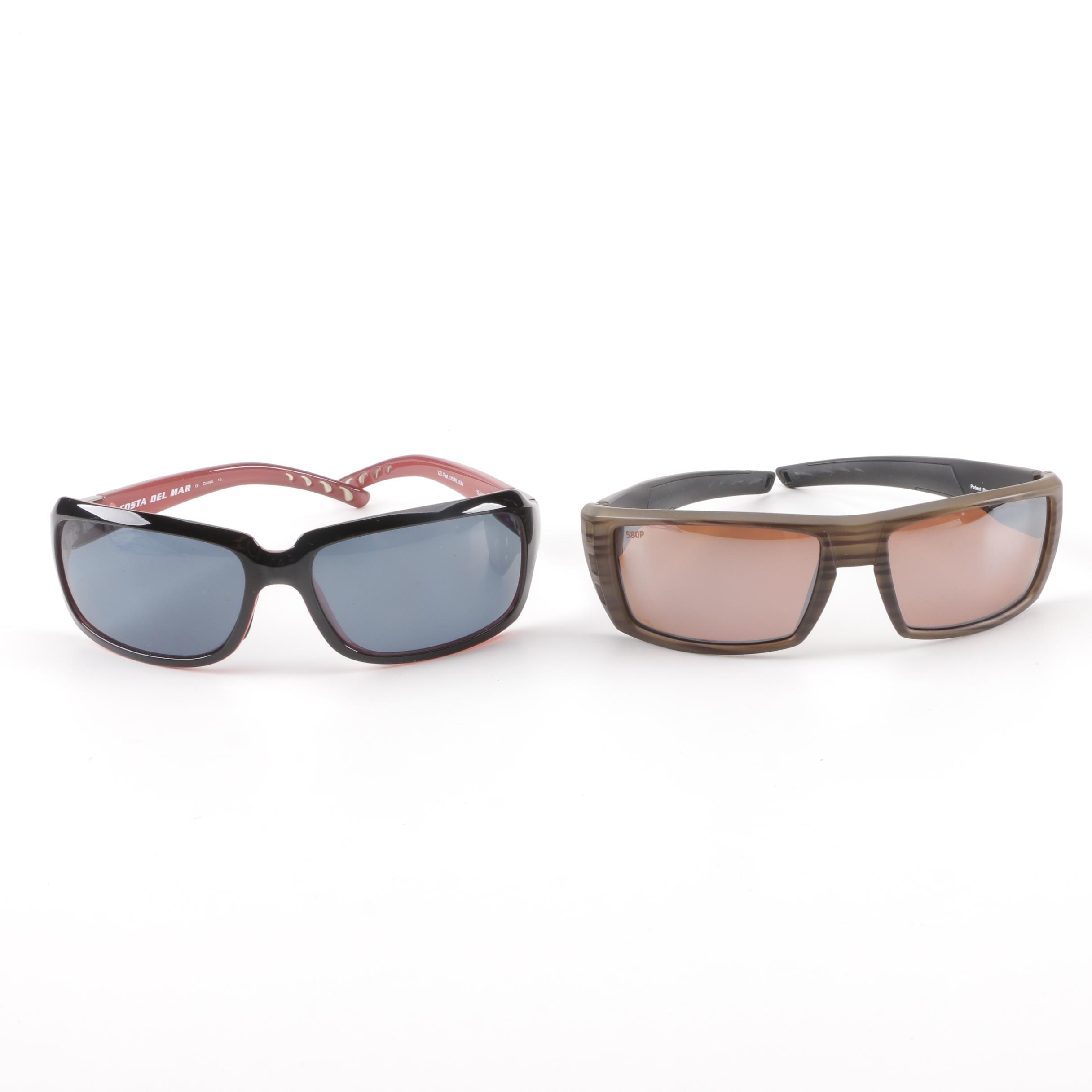 Costa Del Mar Rafael and Isabela Polarized Sunglasses with Case