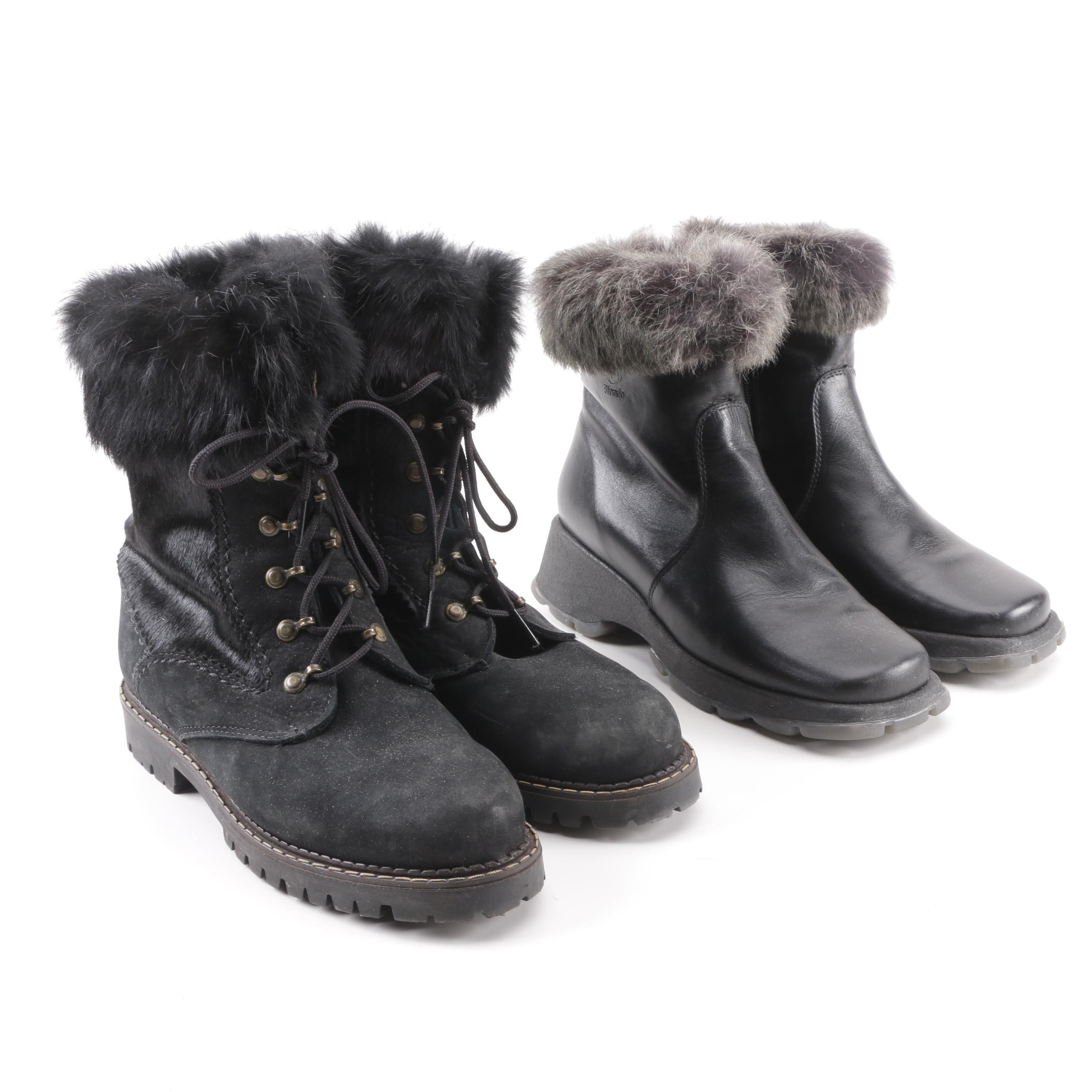 Women's Sorel and Blondo Rabbit Fur-Lined Snow Boots