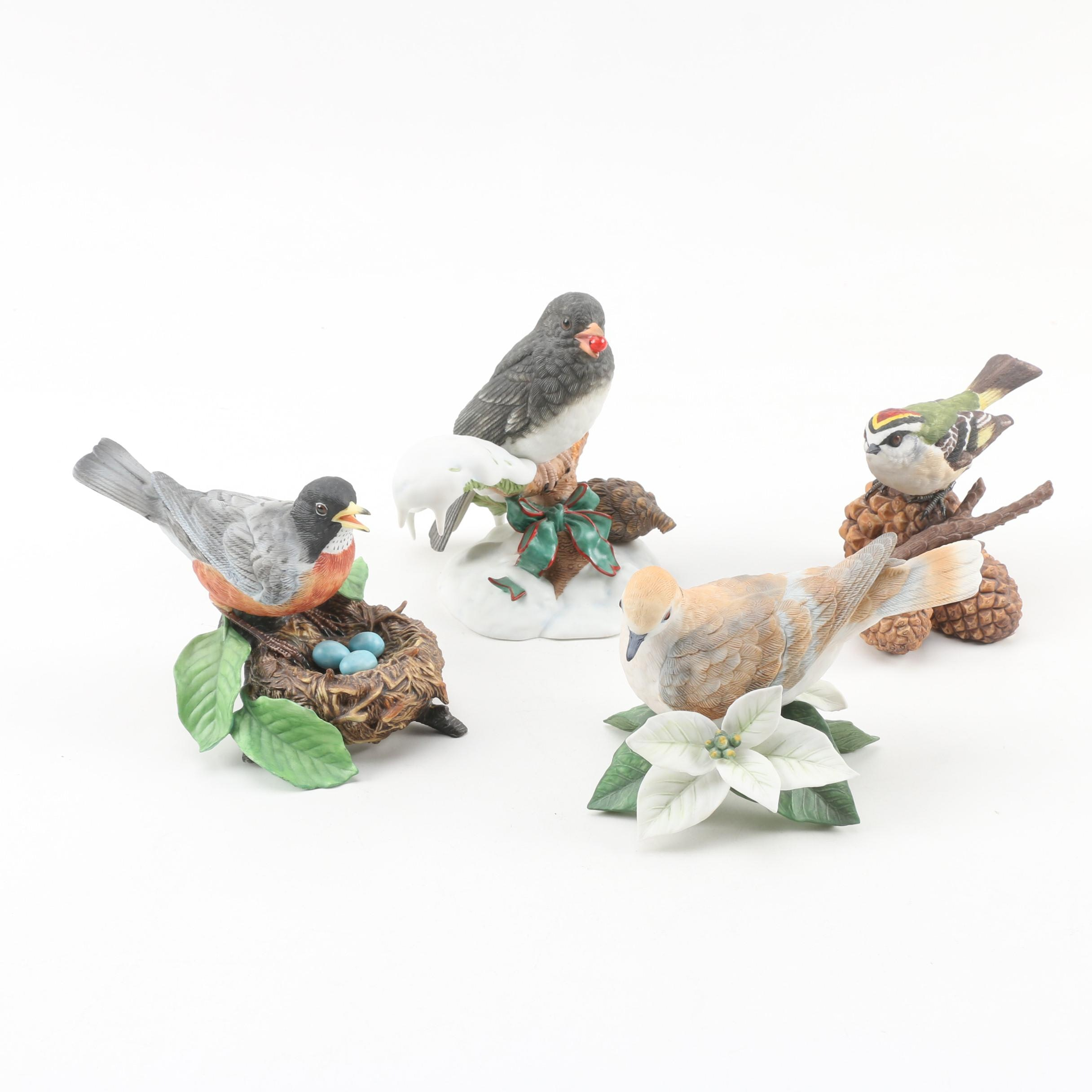 "Lenox Hand-Painted Porcelain Bird Figurines featuring ""Christmas Snowbird"""