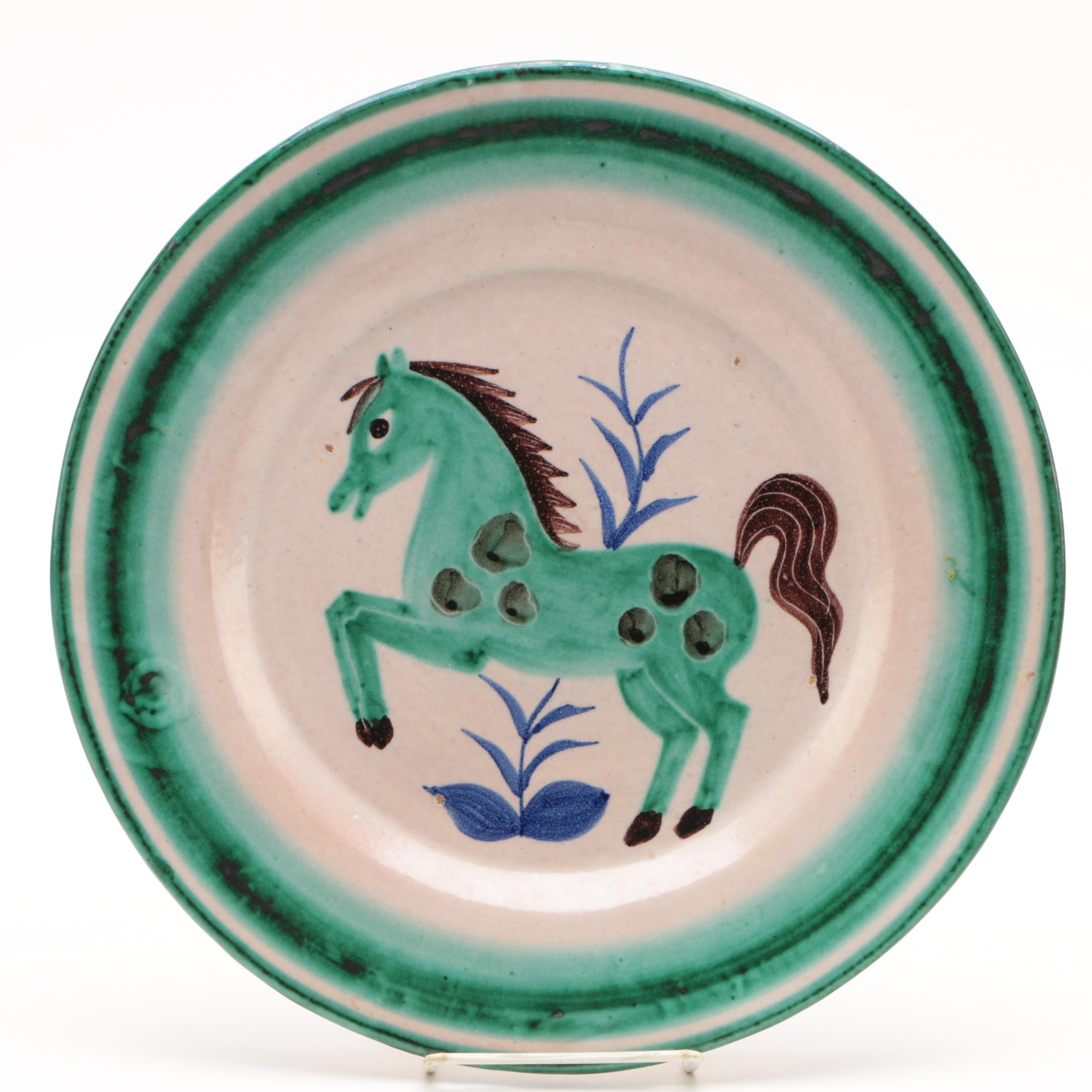 Vietri Italian Horse Themed Ceramic Platter