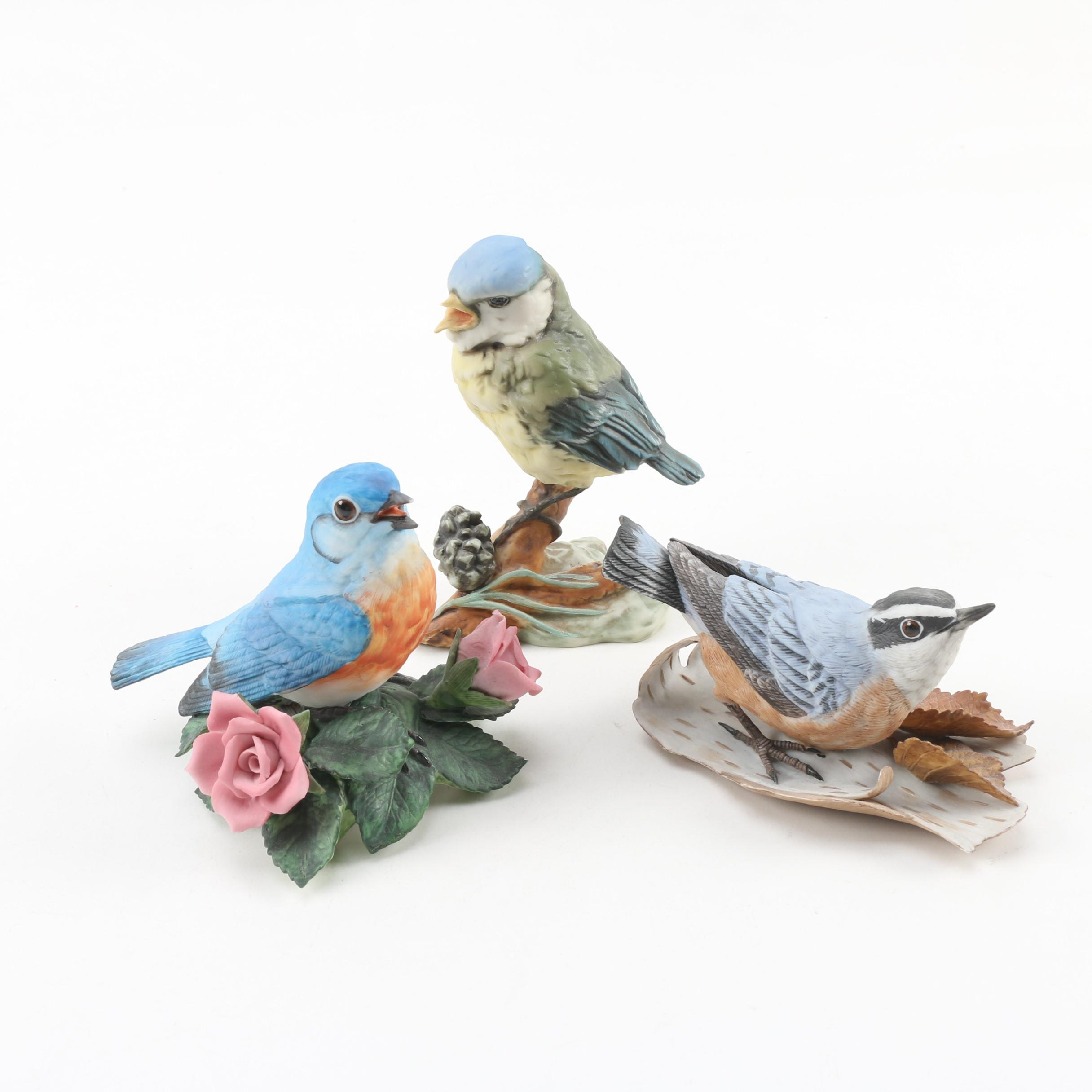 Lenox and Kaiser Hand-Painted Porcelain Bird Figurines