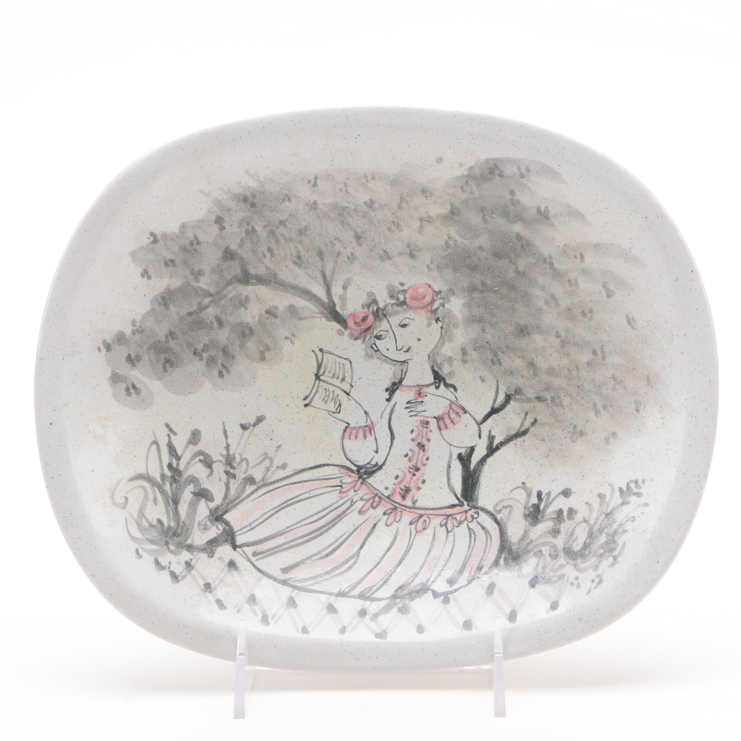Bjørn Wiinblad Hand-Painted Danish Studio Pottery Bowl