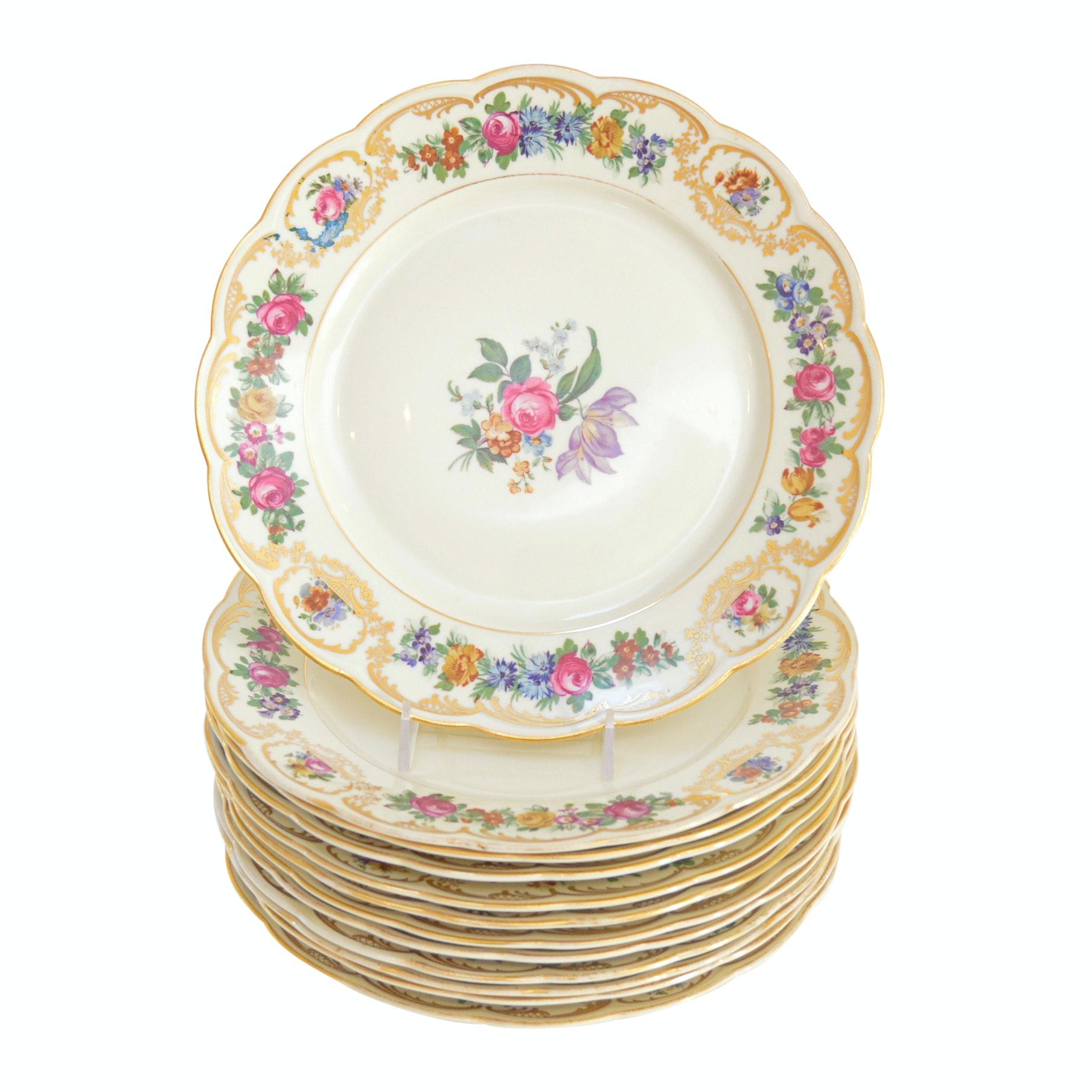 Set of Bavarian Royal Bayreuth Bone China Plates