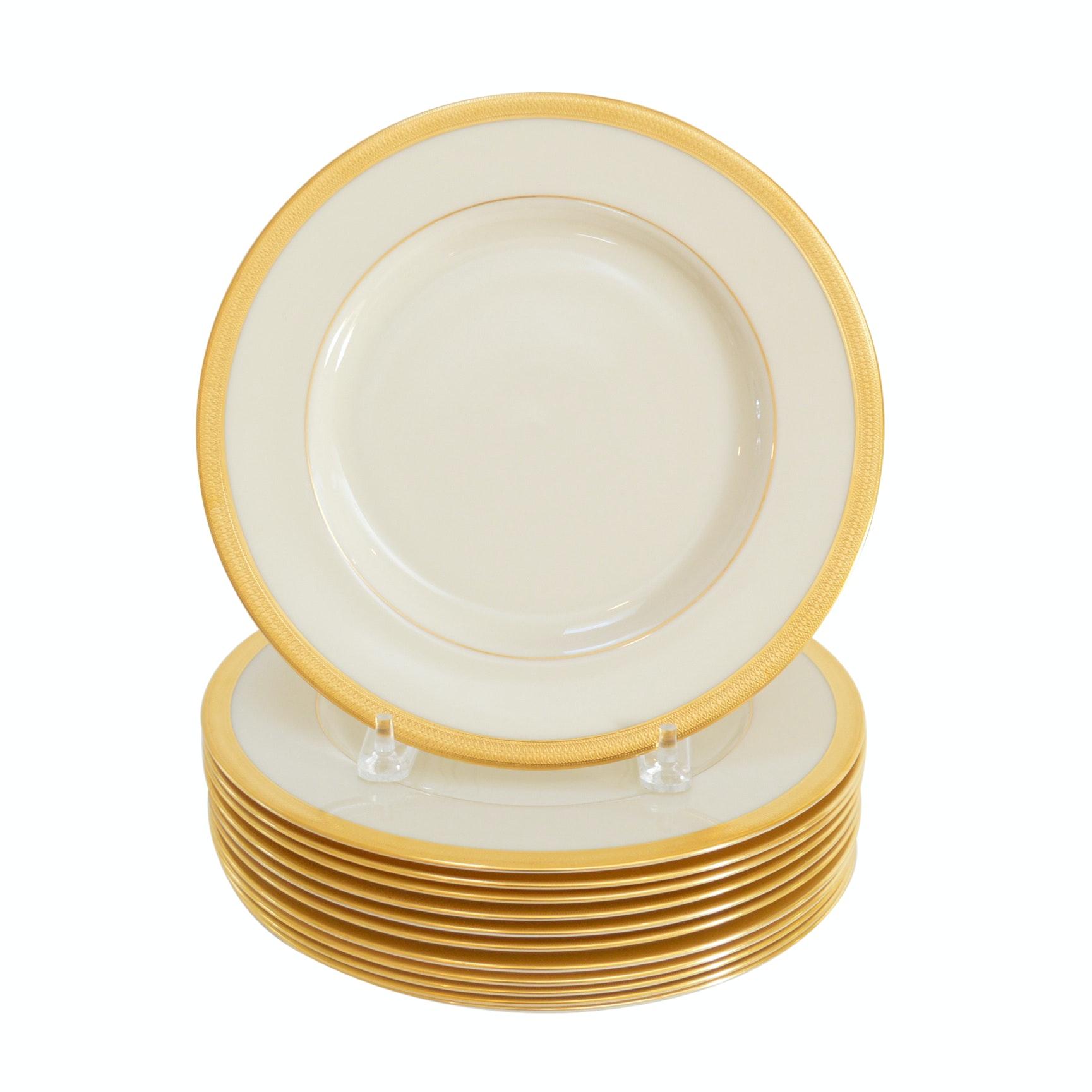 "Set of Lenox ""Lowell"" Bone China Dinner Plates"