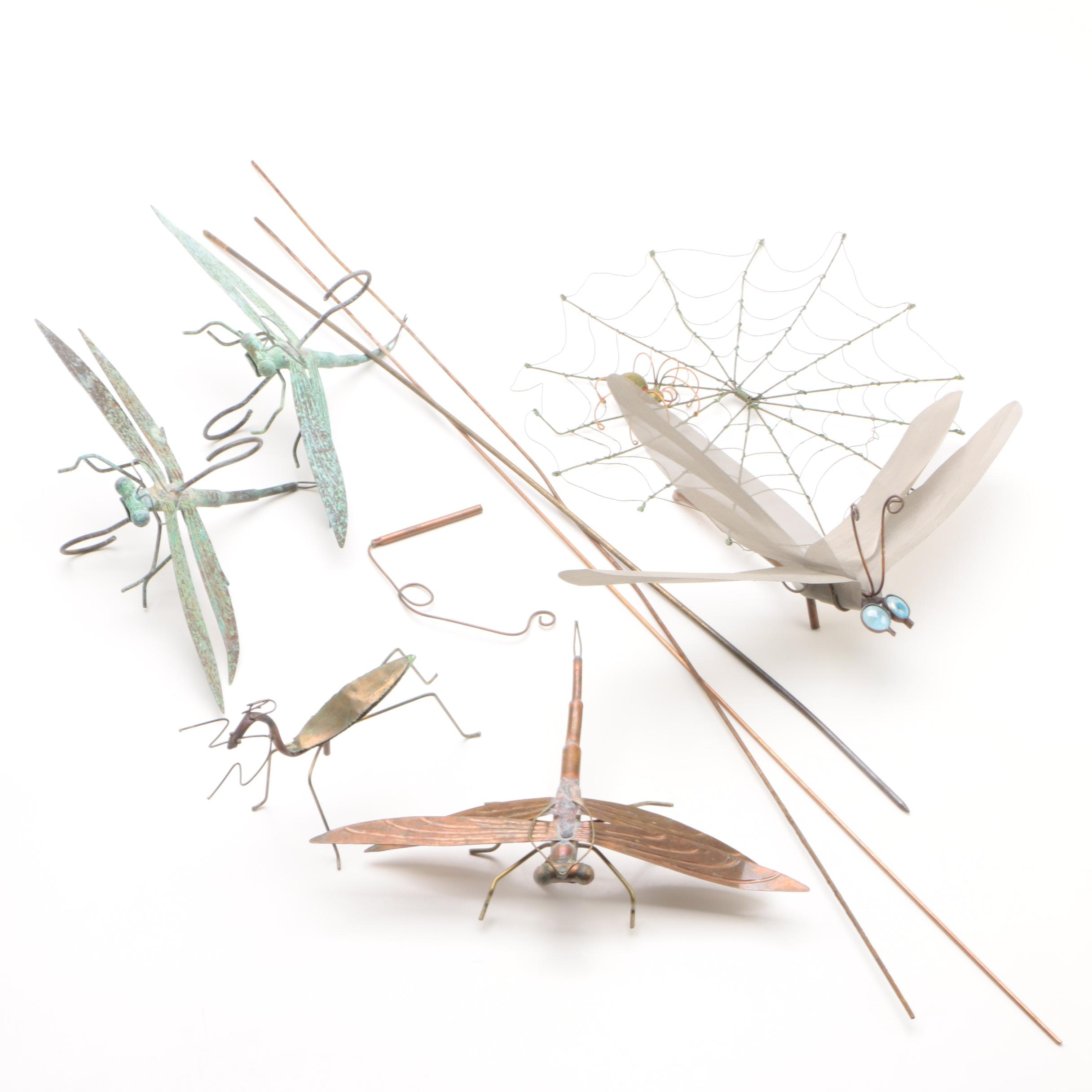 Contemporary Copper Insect Themed Garden Ornaments
