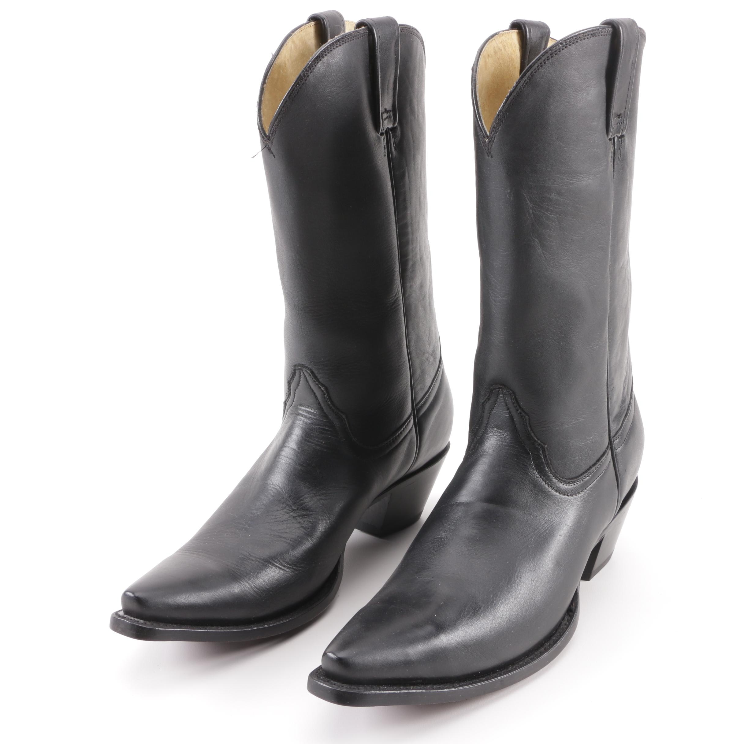 Women's Circle G Black Leather Western Boots