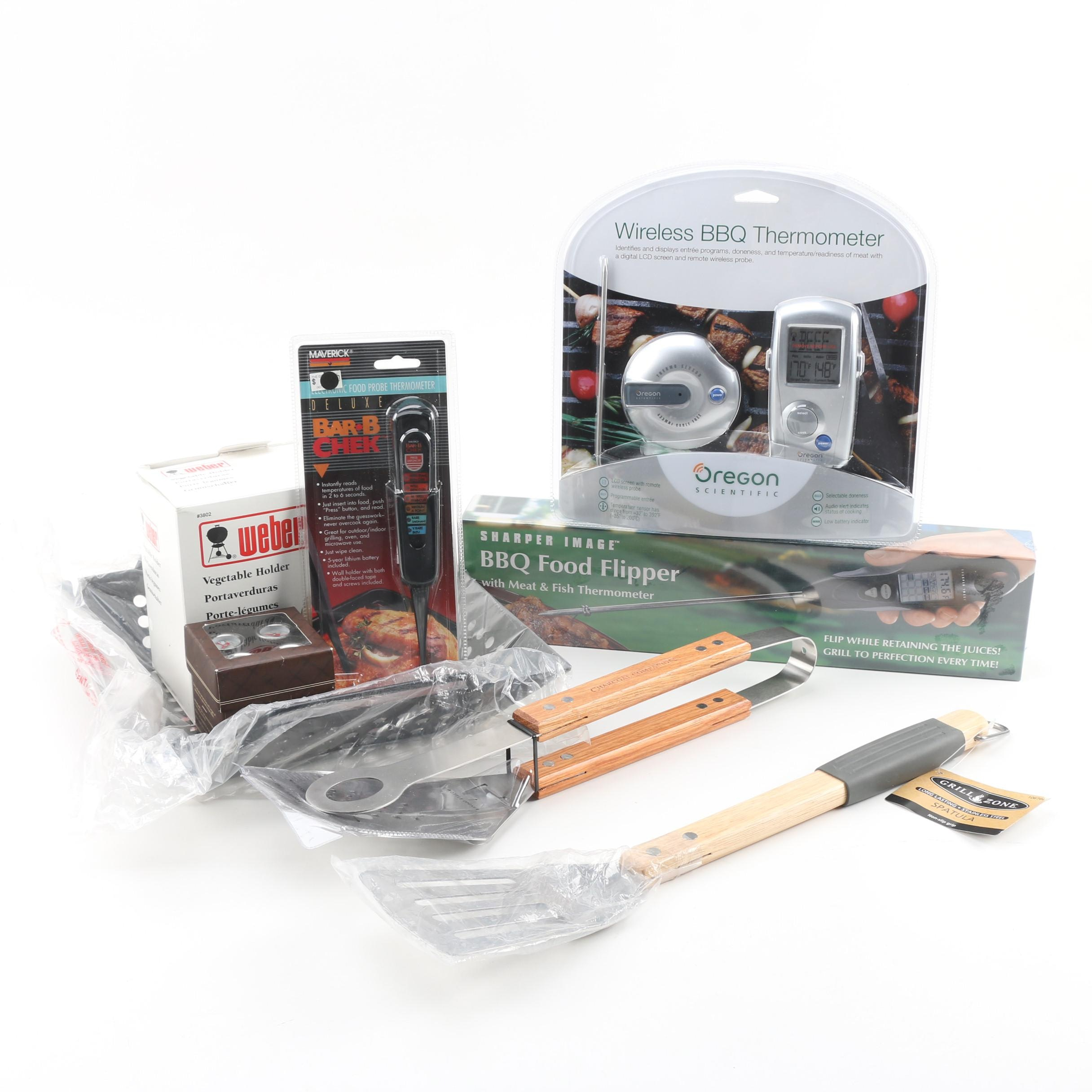 Grilling Accessories featuring Weber and Sharper Image