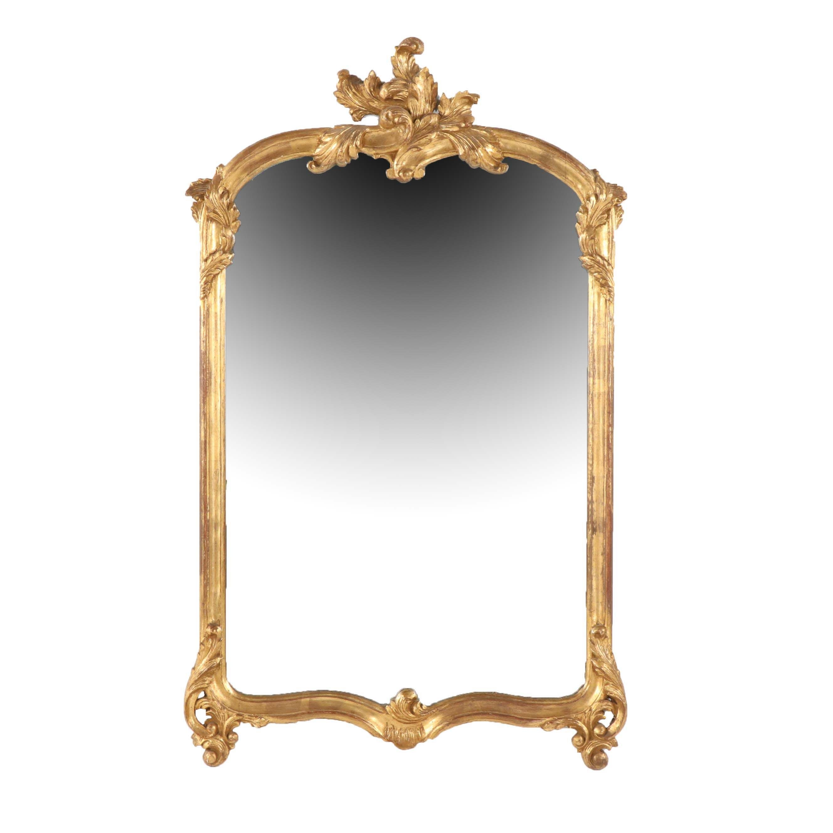 Rococo Style Giltwood Mirror, Late 20th Century