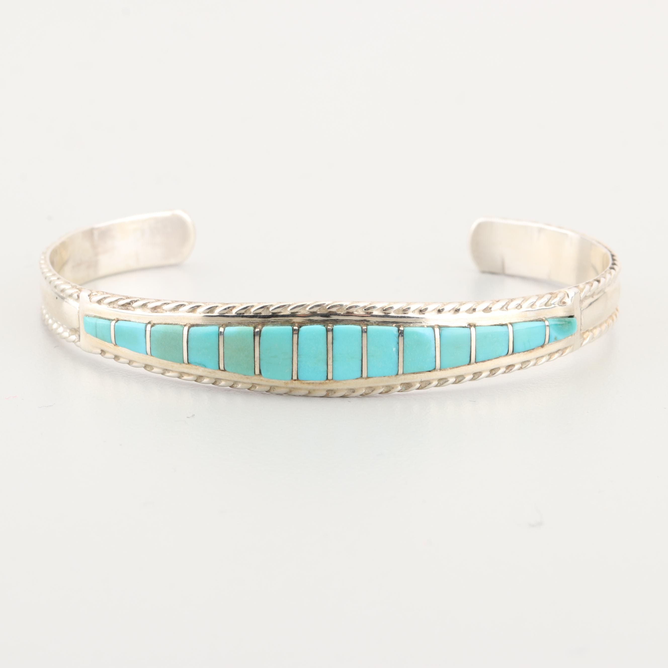 MP Sterling Silver Turquoise Cuff Bracelet