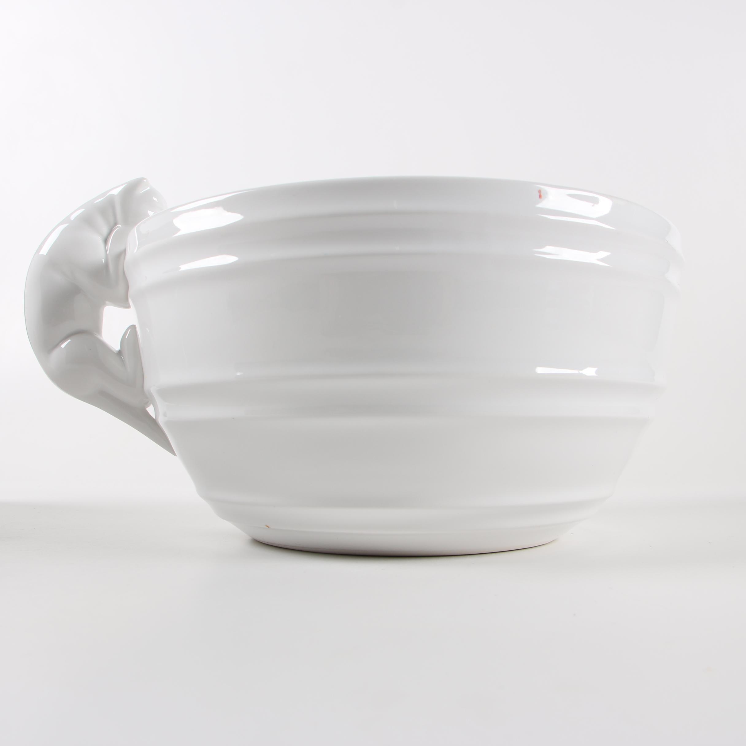 Williams-Sonoma Italian Ceramic Mixing Bowl with Figural Cat Handle