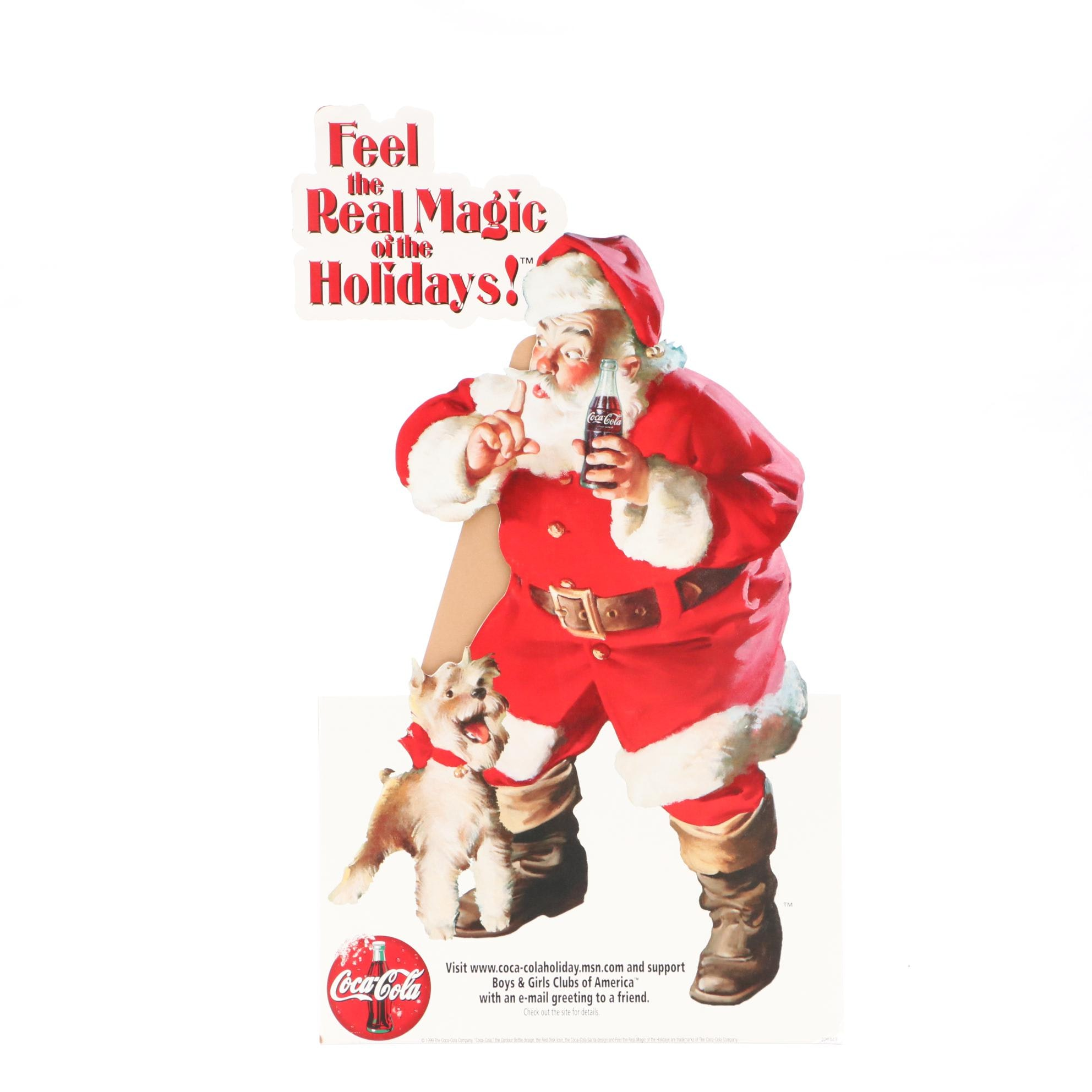 Santa Coca-Cola Advertising Sign