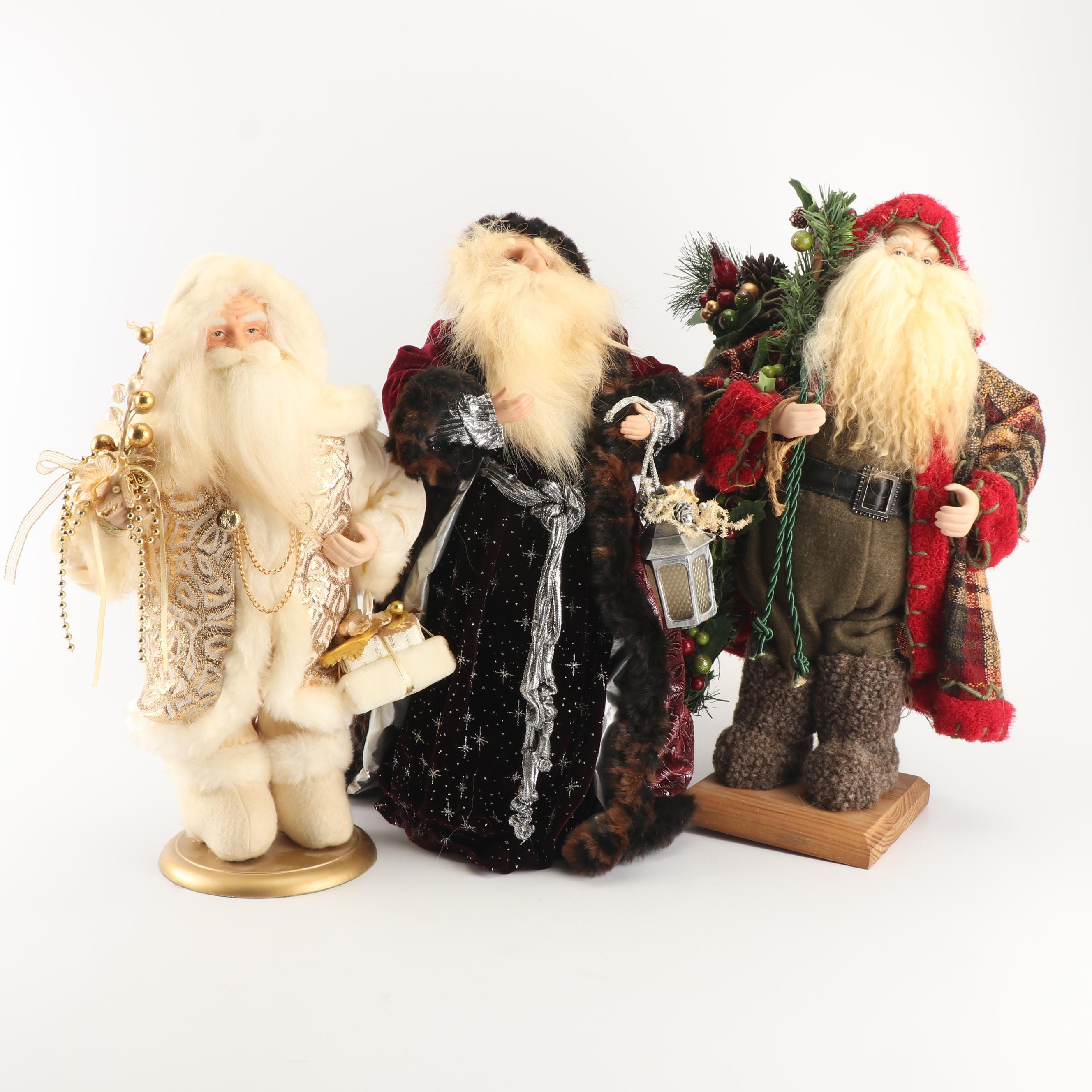Plush Santa Figurines