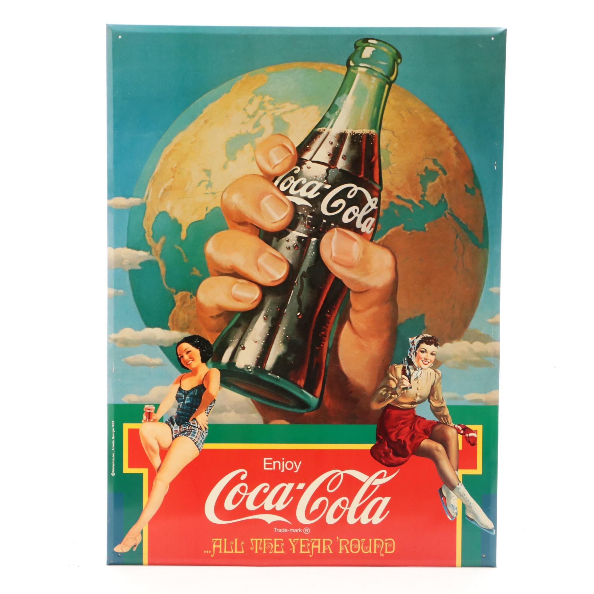 Contemporary Coca-Cola Metal Advertising Sign