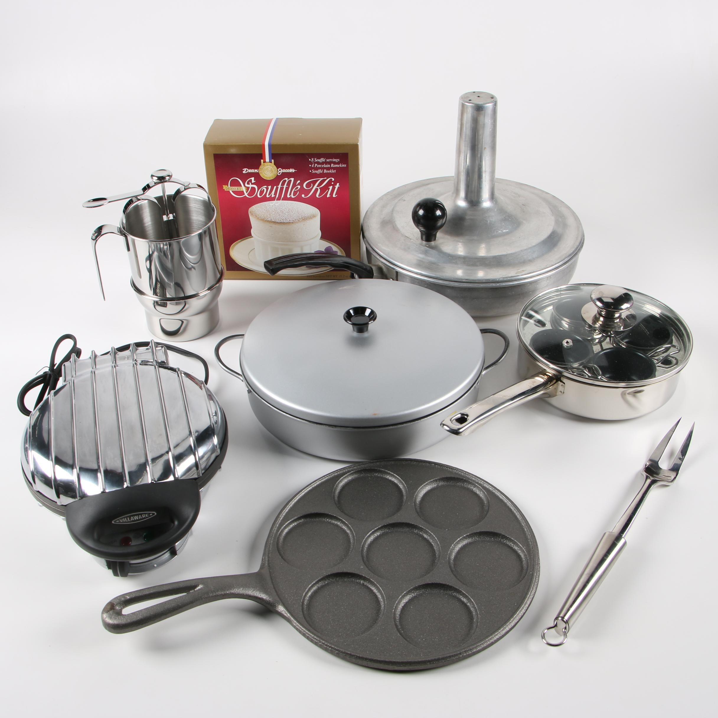 Villaware Waffle Maker and Other Cookware